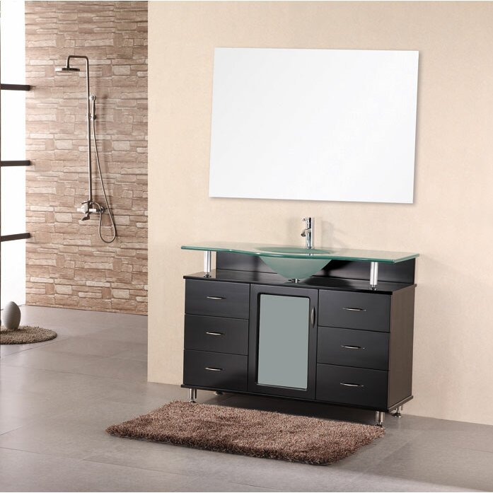 "Bathroom Vanity Lighting Concept For Modern Houses: Home Loft Concepts Mateo 48"" Single Bathroom Vanity Set"