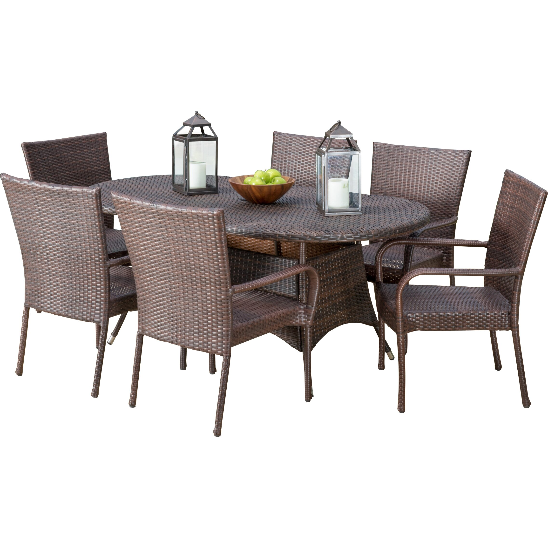Home loft concepts blakely 7 piece dining set reviews for 7 piece dining set