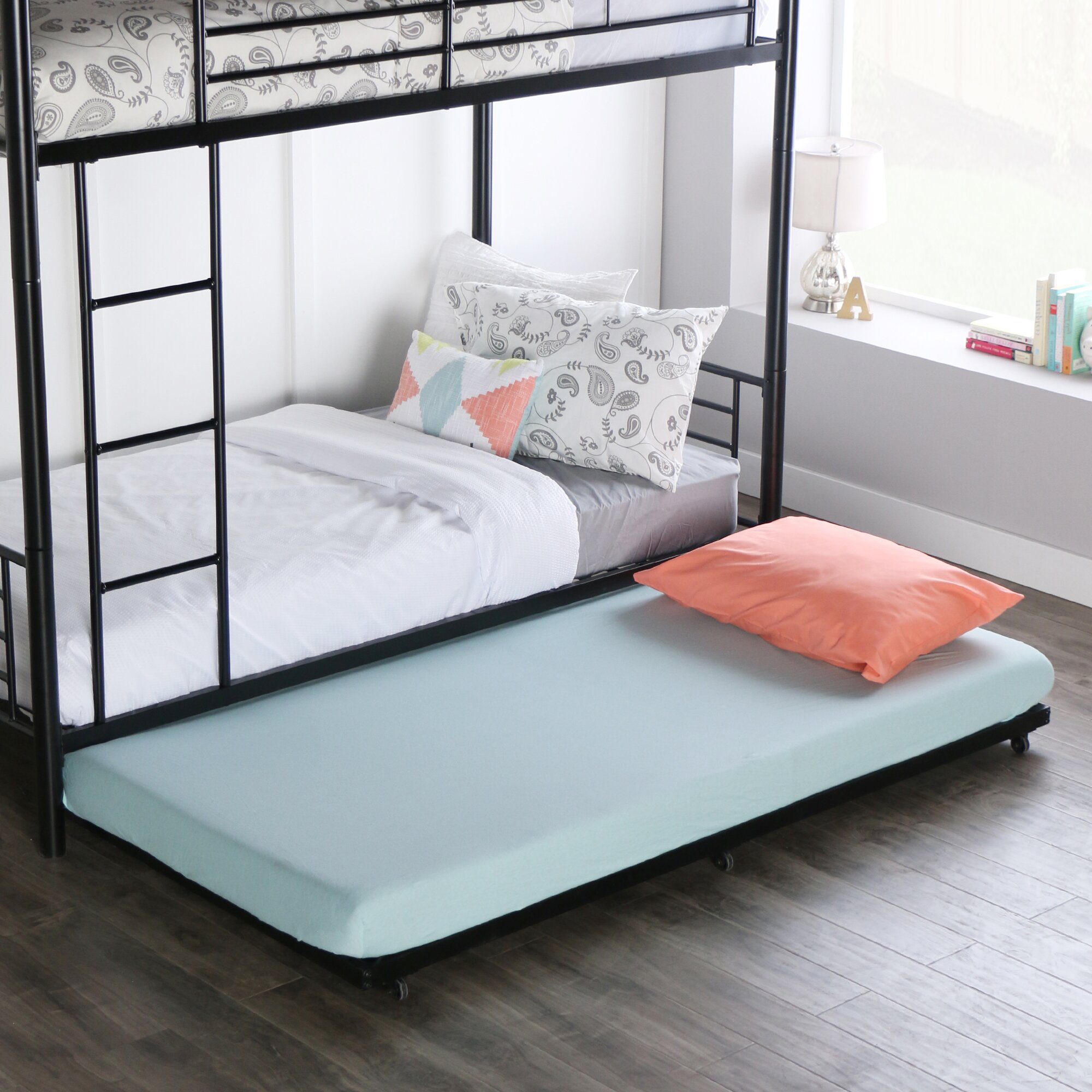 Home Loft Concepts Twin Roll Out Trundle Bed Frame Reviews Wayfair