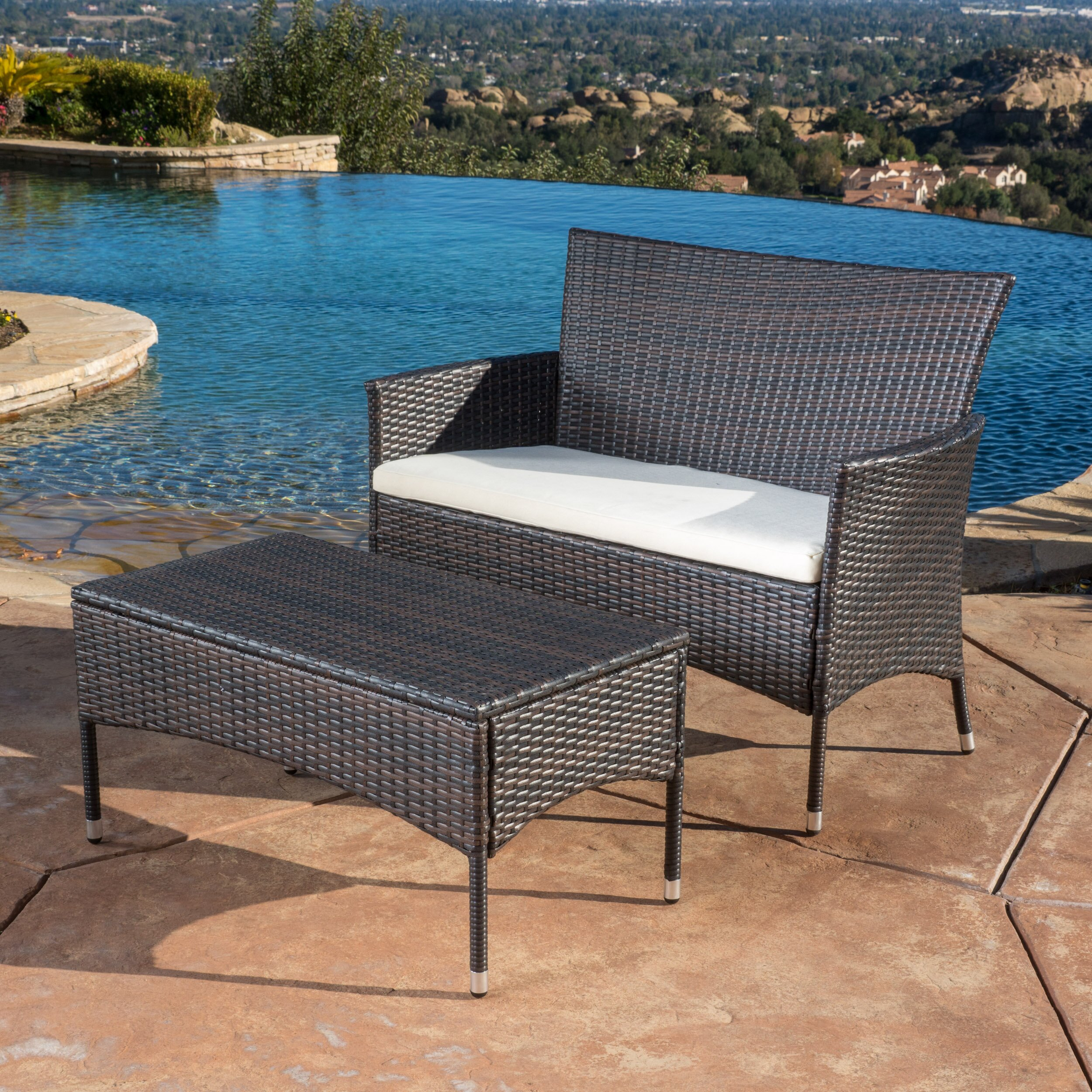Home Loft Concepts Mercer 3 Piece Bench Seating Group With
