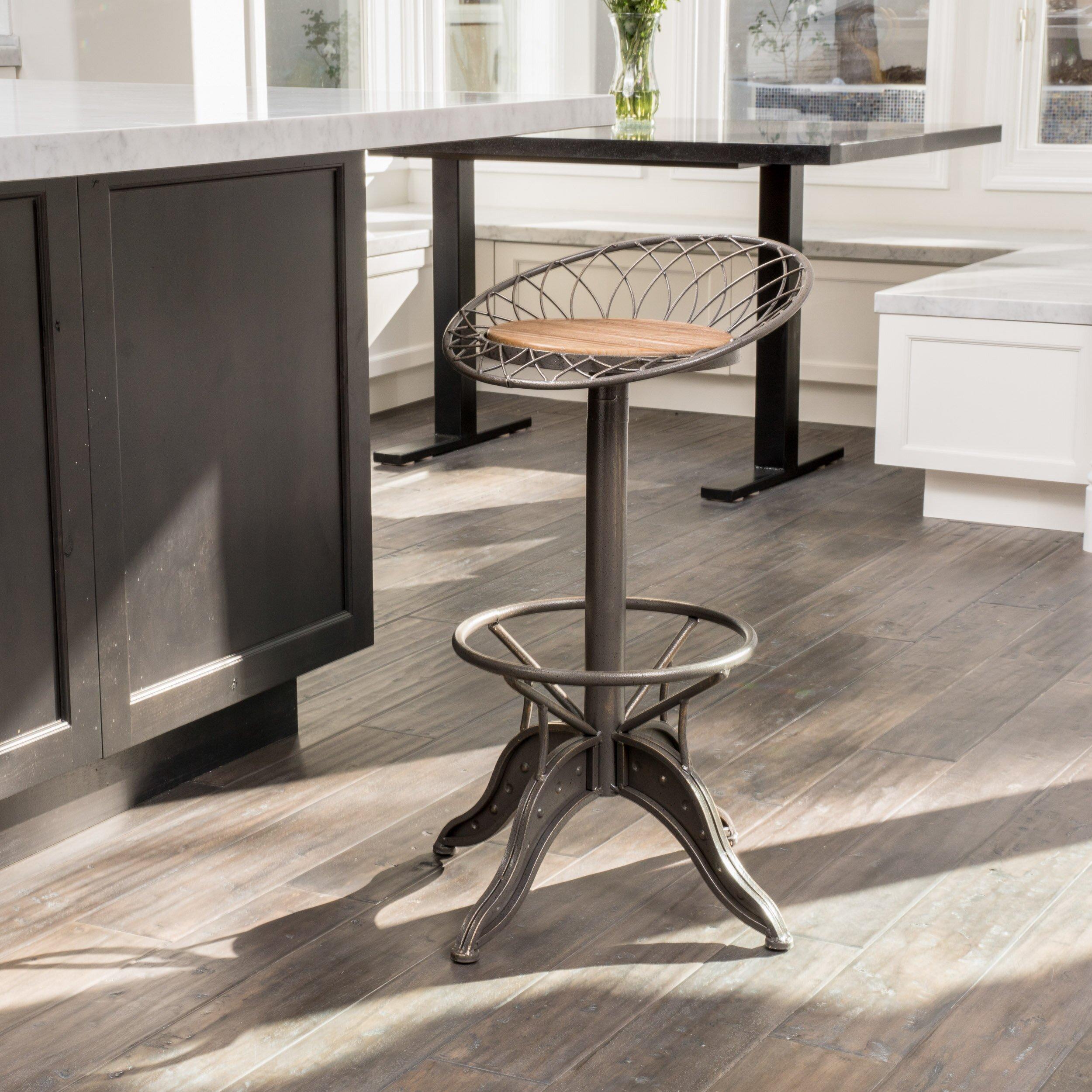 Home Loft Concepts Adjustable Height Swivel Bar Stool