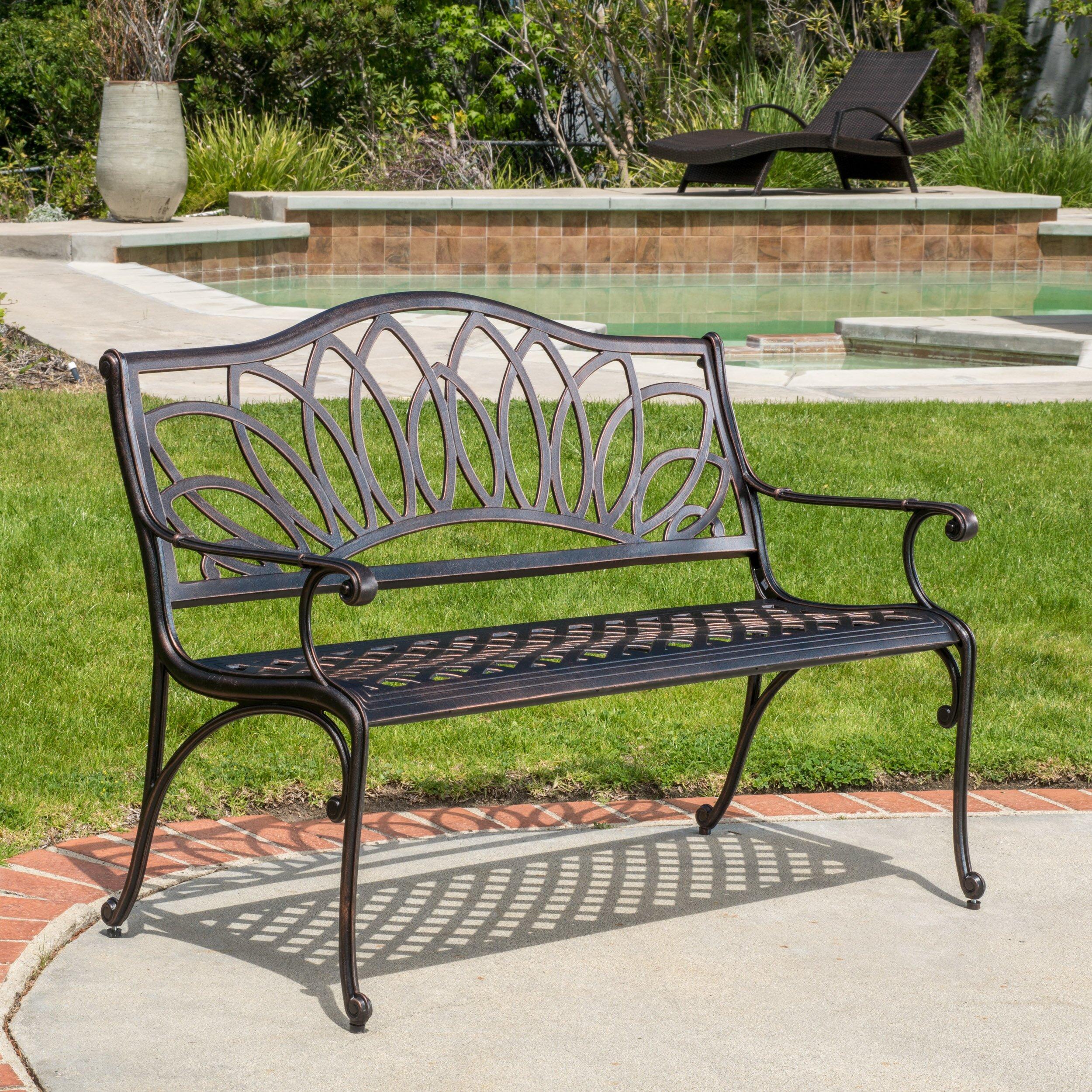 Home Loft Concepts Ramsey Spiral Cast Aluminum Outdoor