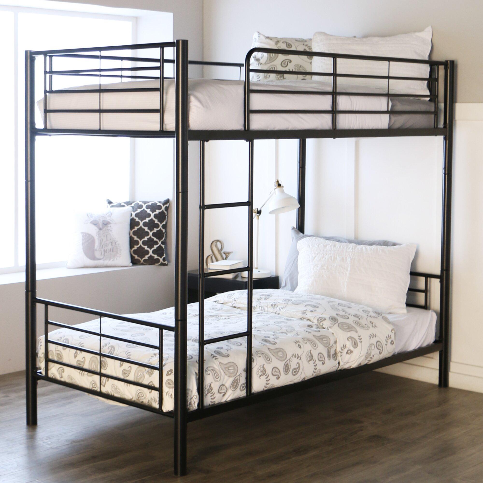 Home loft concepts brady twin bunk bed reviews wayfair for Home loft concept bunk bed