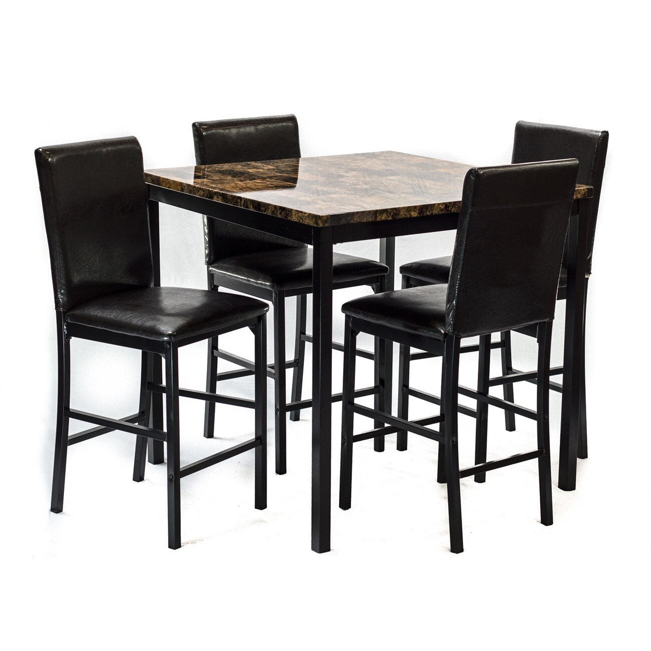Hazelwood home 5 piece dining set reviews wayfair for 5 piece dining set
