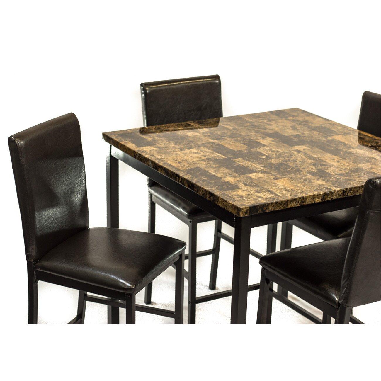 Hazelwood home 5 piece dining set reviews for 5 piece dining set