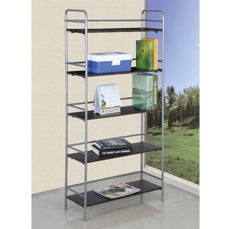 hazelwood home 60 h 5 shelf shelving unit wayfair. Black Bedroom Furniture Sets. Home Design Ideas