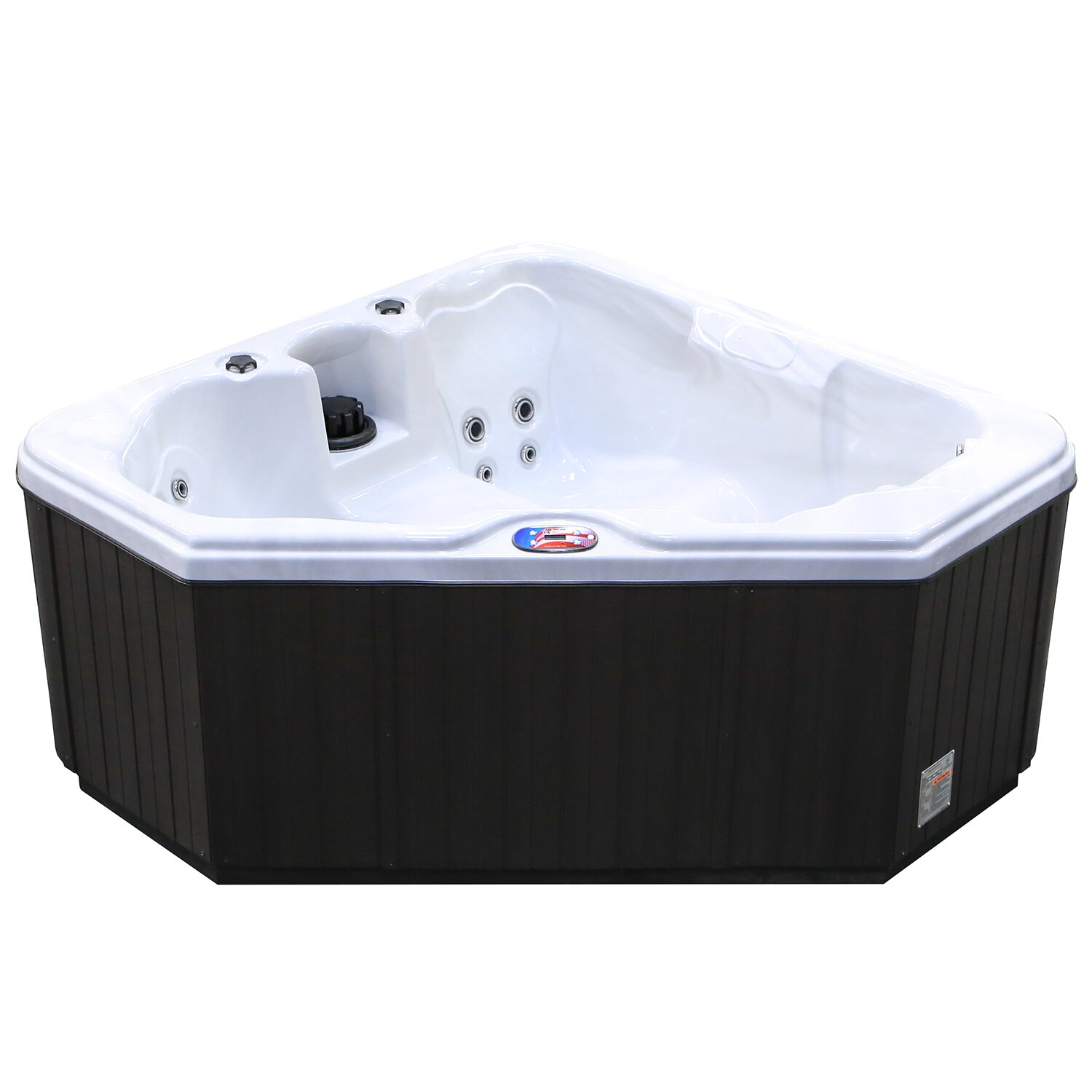 American Spas 2 Person 28 Jet Triangle Spa With Multi
