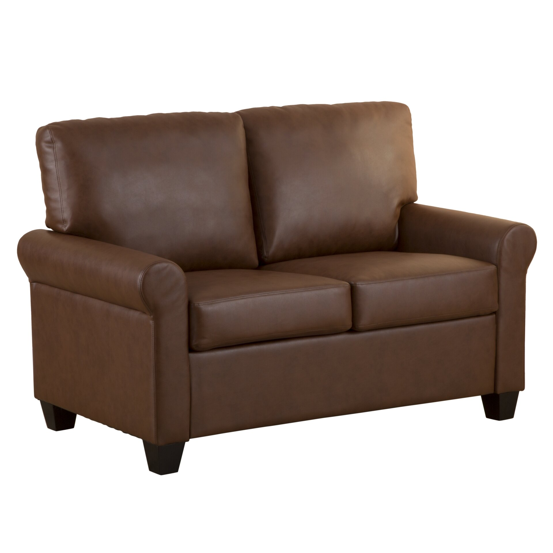 Andover Mills James Faux Leather Loveseat Reviews