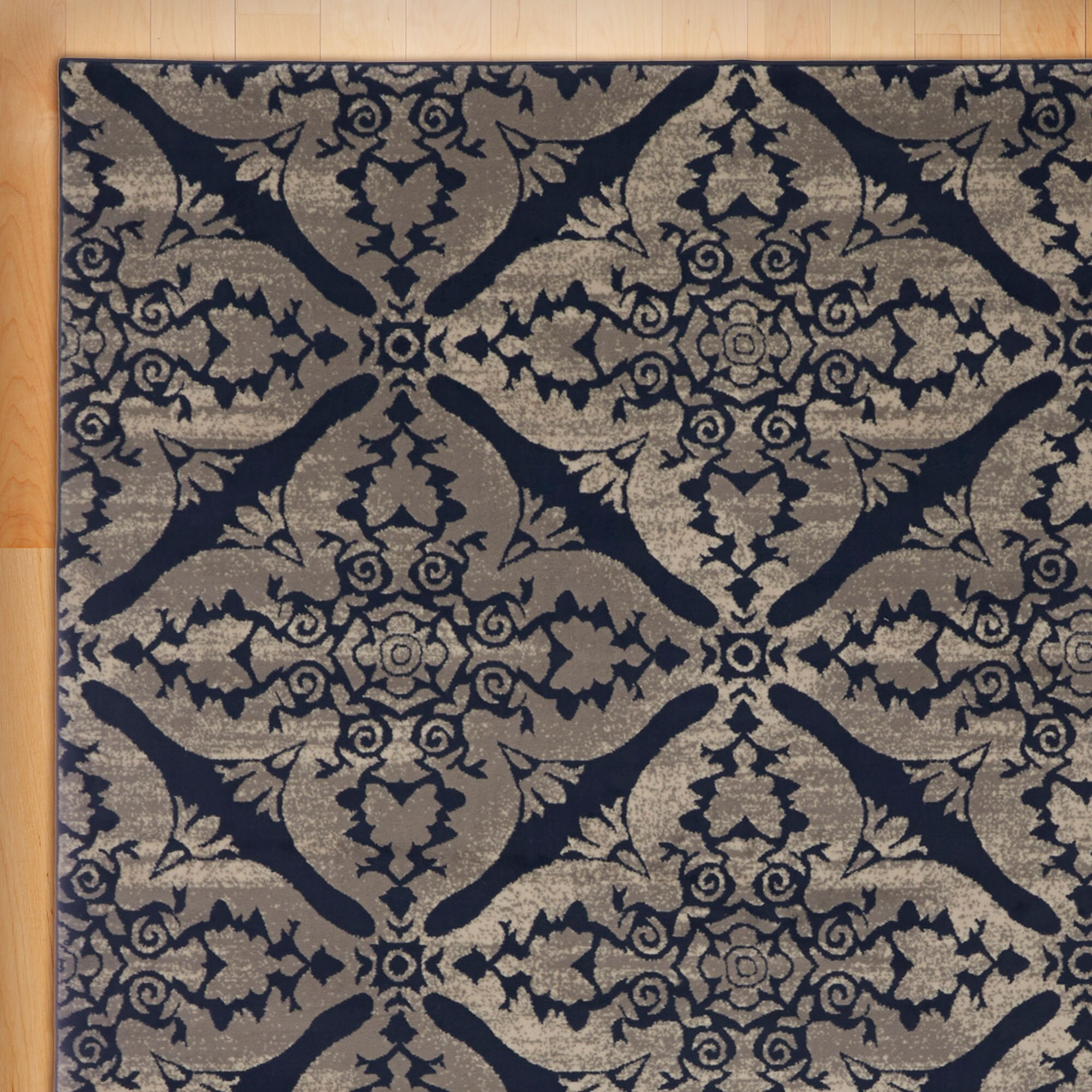 andover mills blue gray area rug reviews wayfair. Black Bedroom Furniture Sets. Home Design Ideas