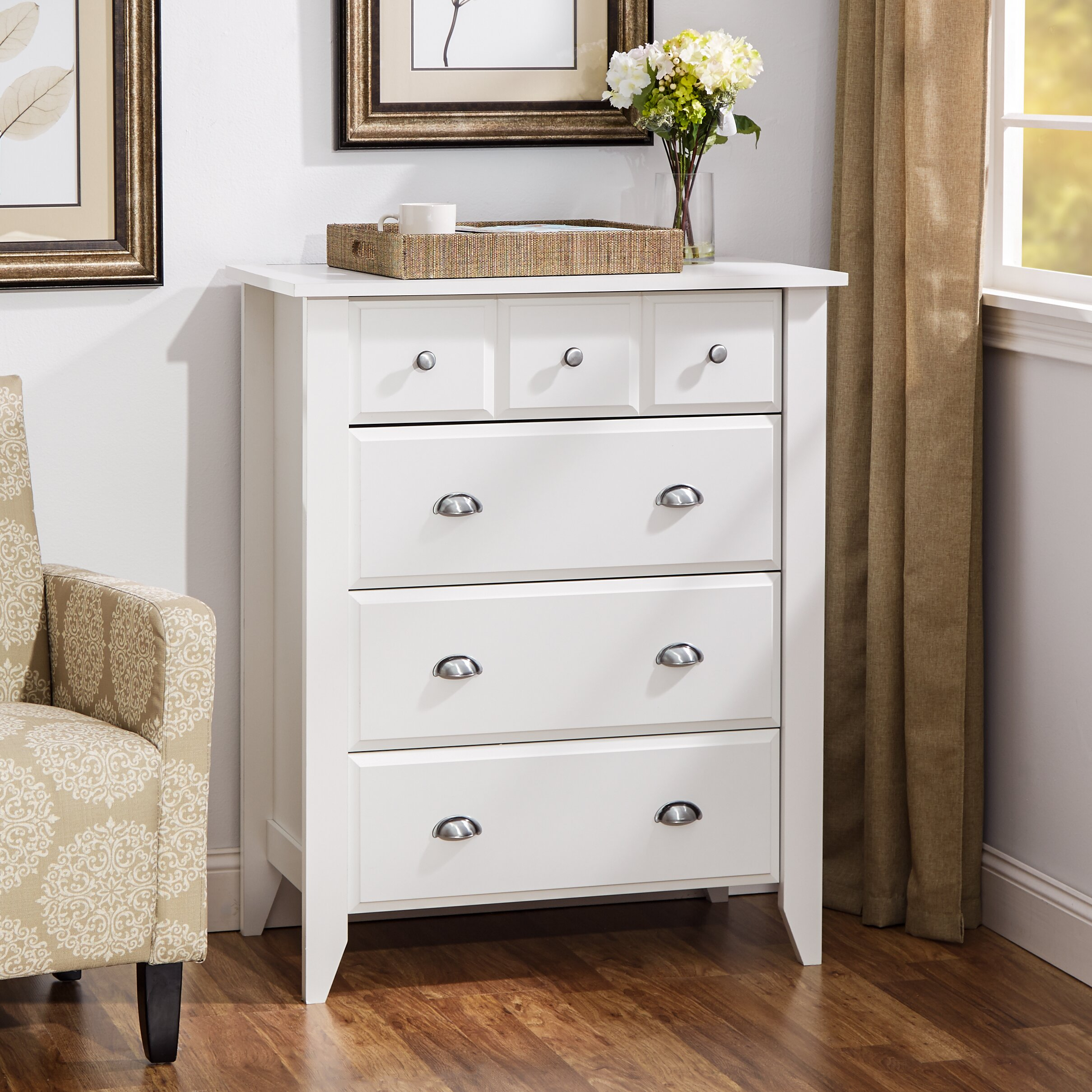 andover mills revere 4 drawer chest reviews wayfair. Black Bedroom Furniture Sets. Home Design Ideas