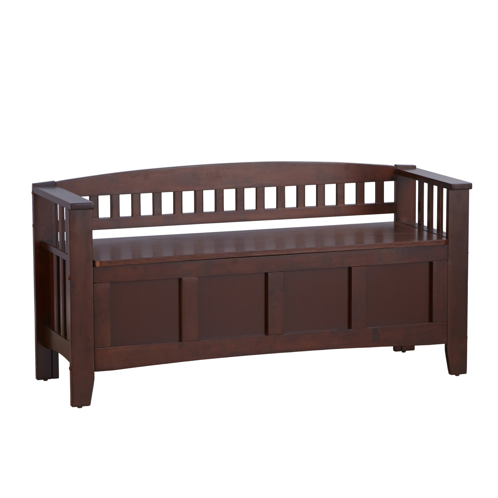 Andover Mills Ravenwood Upholstered Storage Bench: Andover Mills Winthrop Wood Storage Bench & Reviews