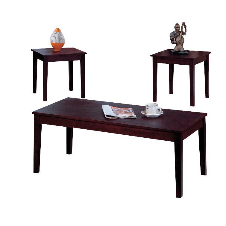 Andover Mills Melton 3 Piece Coffee Table Set Reviews Wayfair