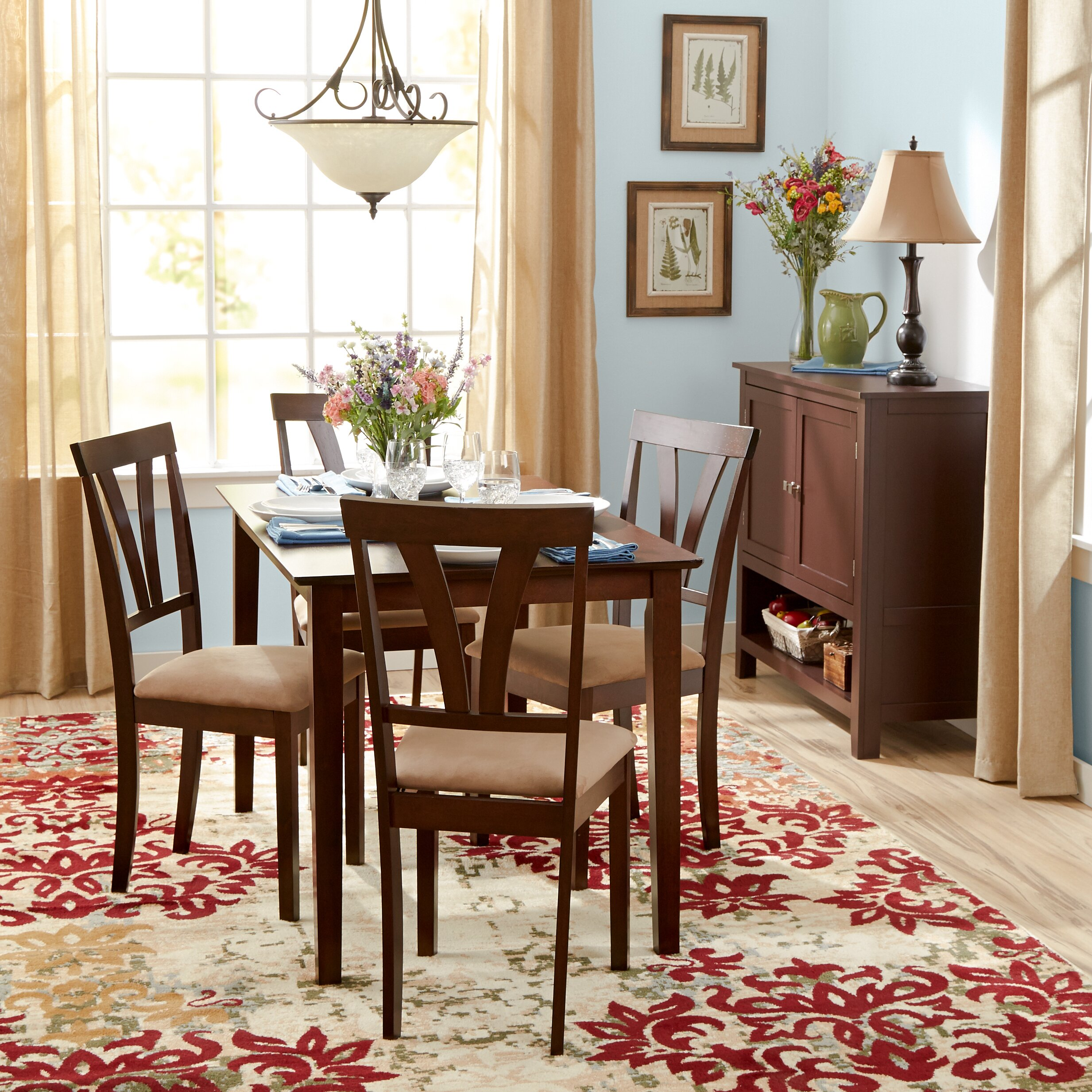 Andover mills donald 5 piece dining set reviews wayfair for Breakfast room sets