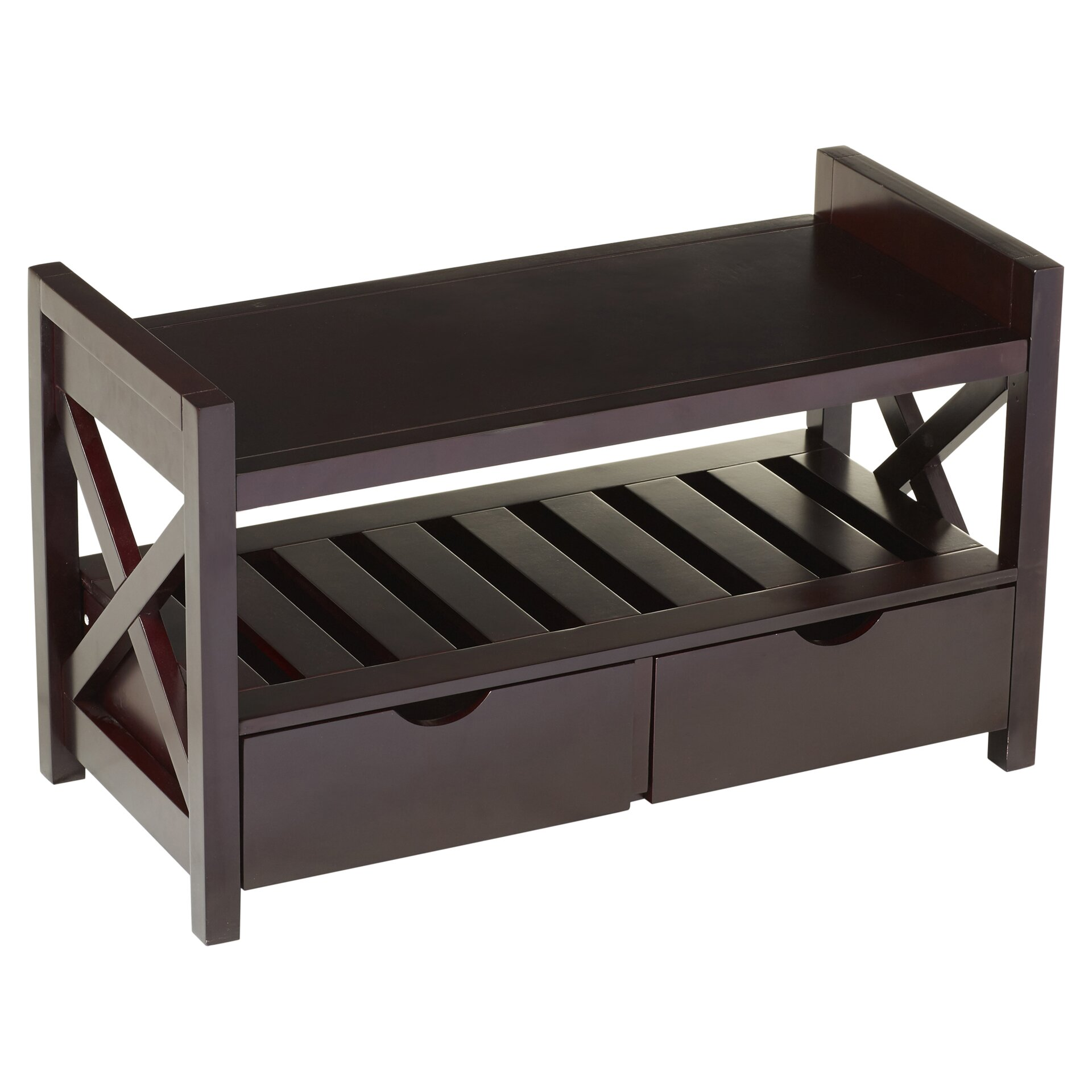 Andover Mills Ravenwood Upholstered Storage Bench: Andover Mills Cyril Storage Entryway Bench & Reviews