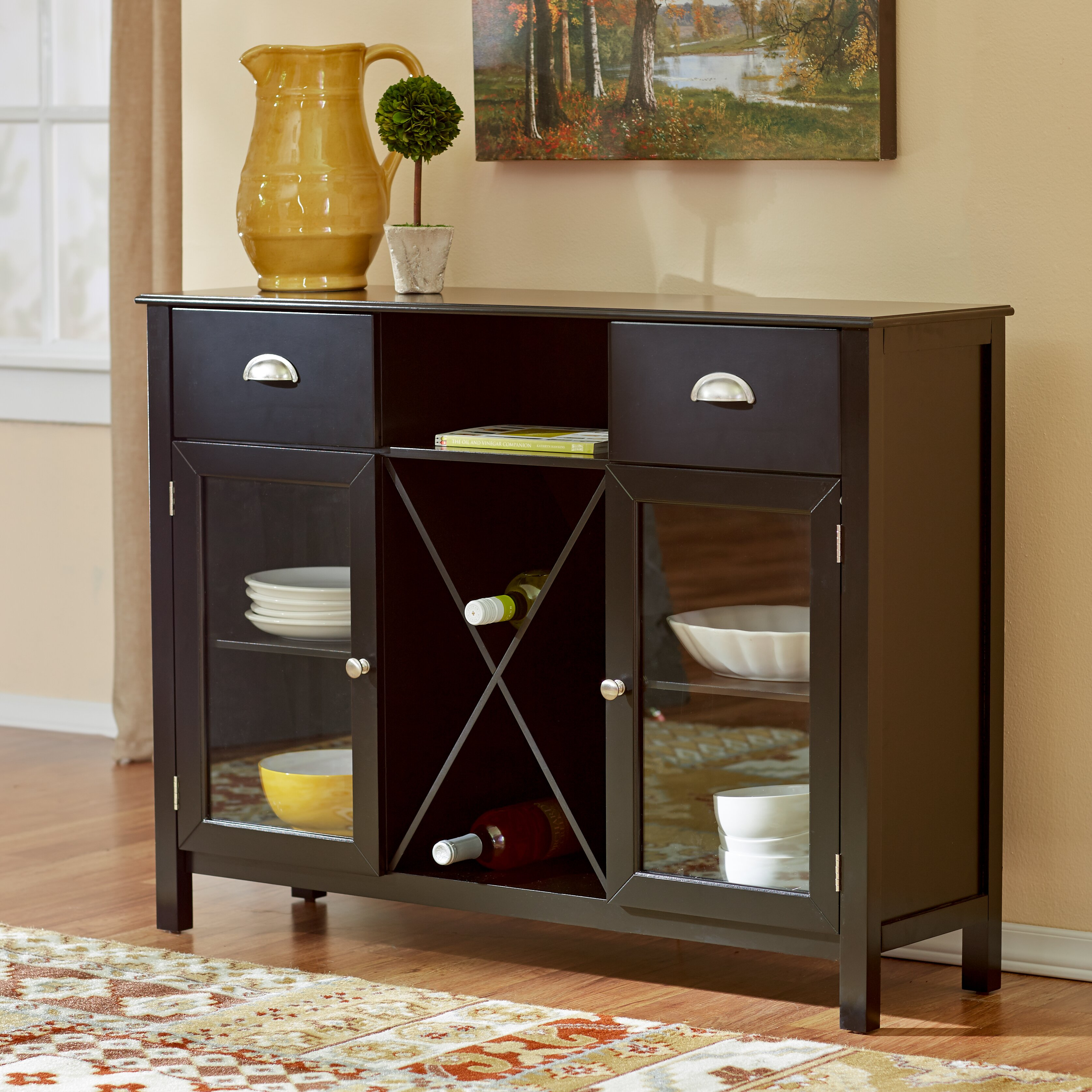 Andover Mills Stella Buffet With Wine Rack Amp Reviews Wayfair