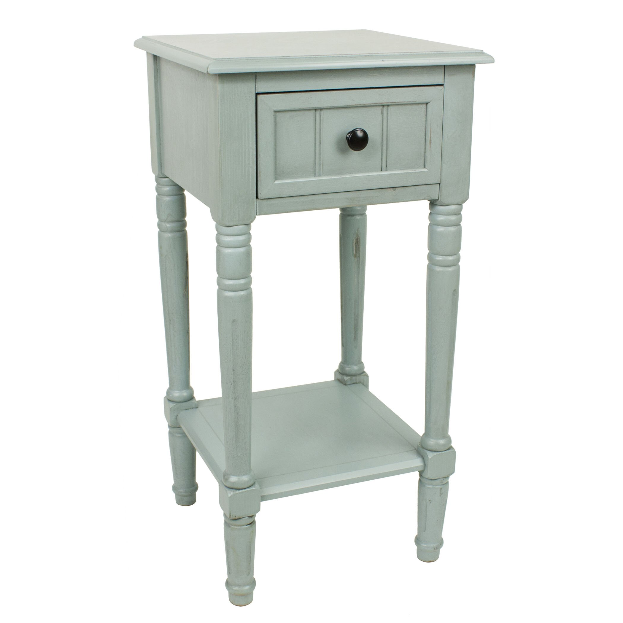 Andover mills everly 1 drawer end table reviews wayfair for 1 drawer table