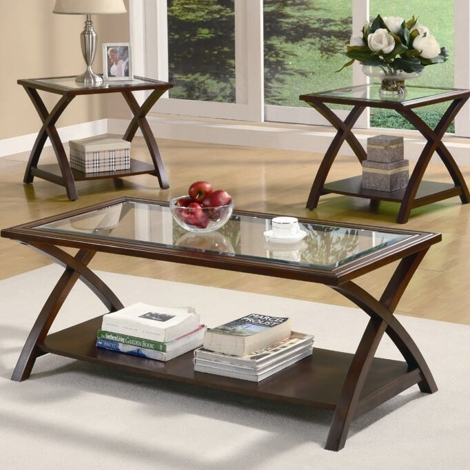 Jordan S Furniture Coffee Table Sets: Andover Mills Aberdeen 3 Piece Coffee Table Set & Reviews