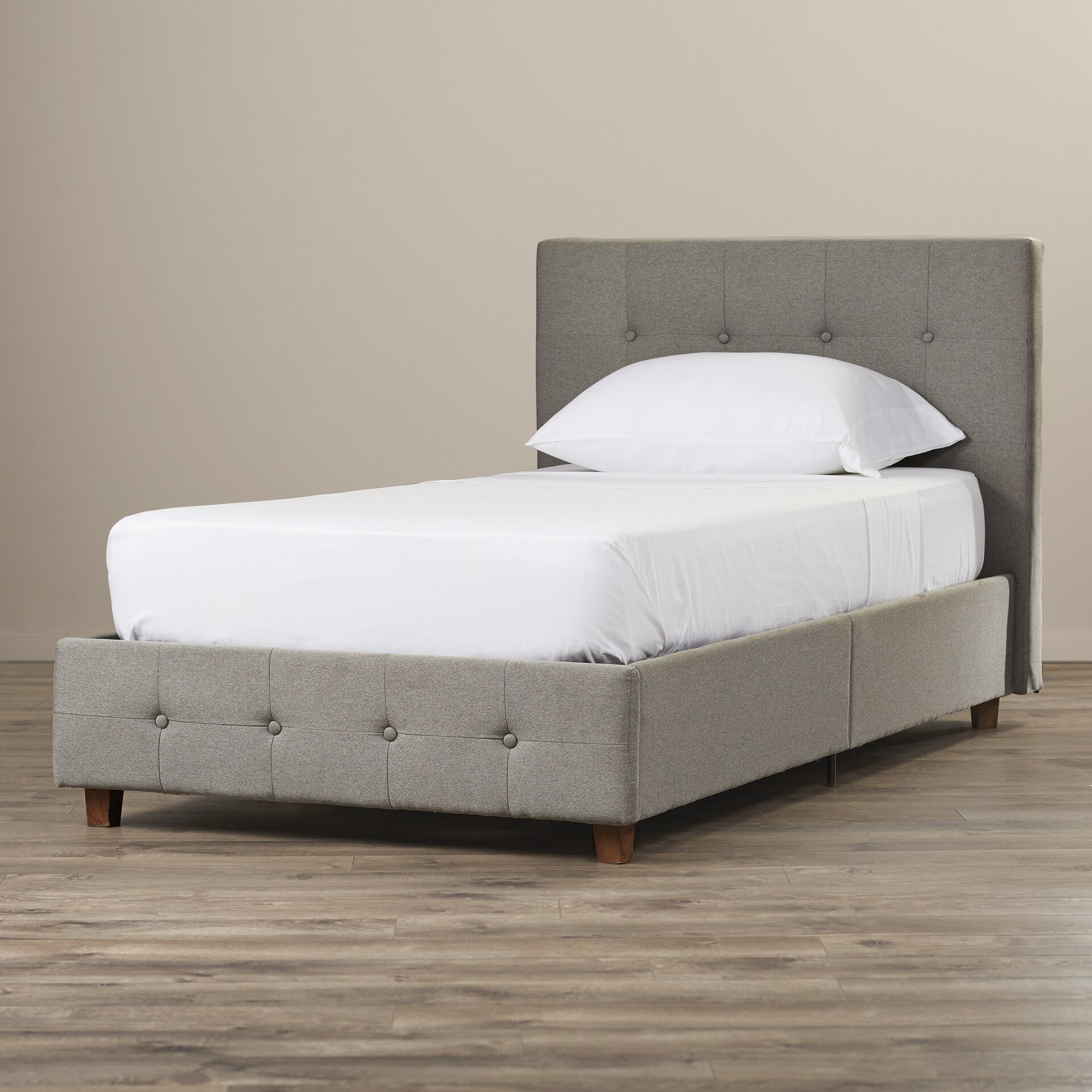 Andover mills amherst upholstered platform bed reviews for Upholstered beds