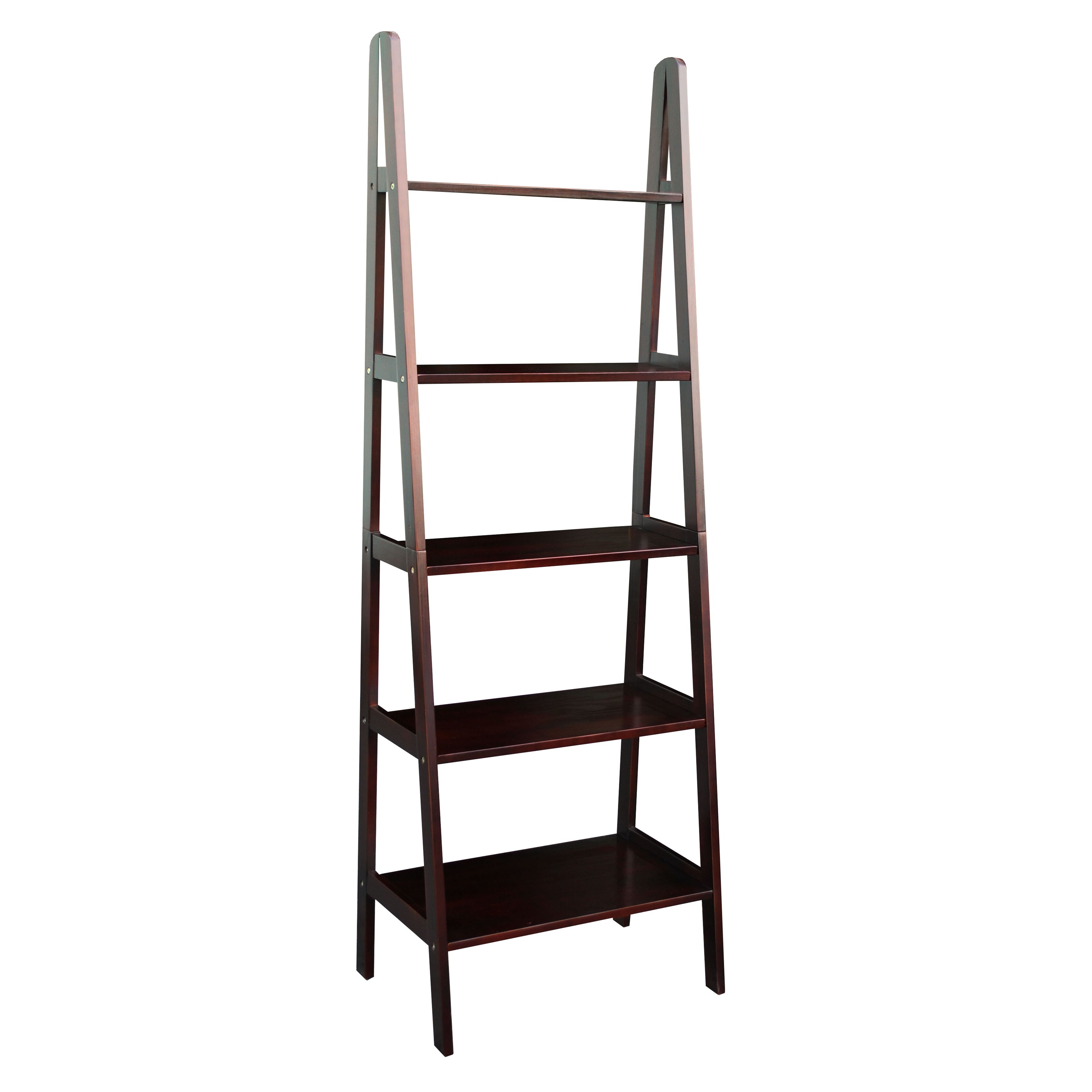 Andover mills channing 72 leaning bookcase reviews for Librero escalera