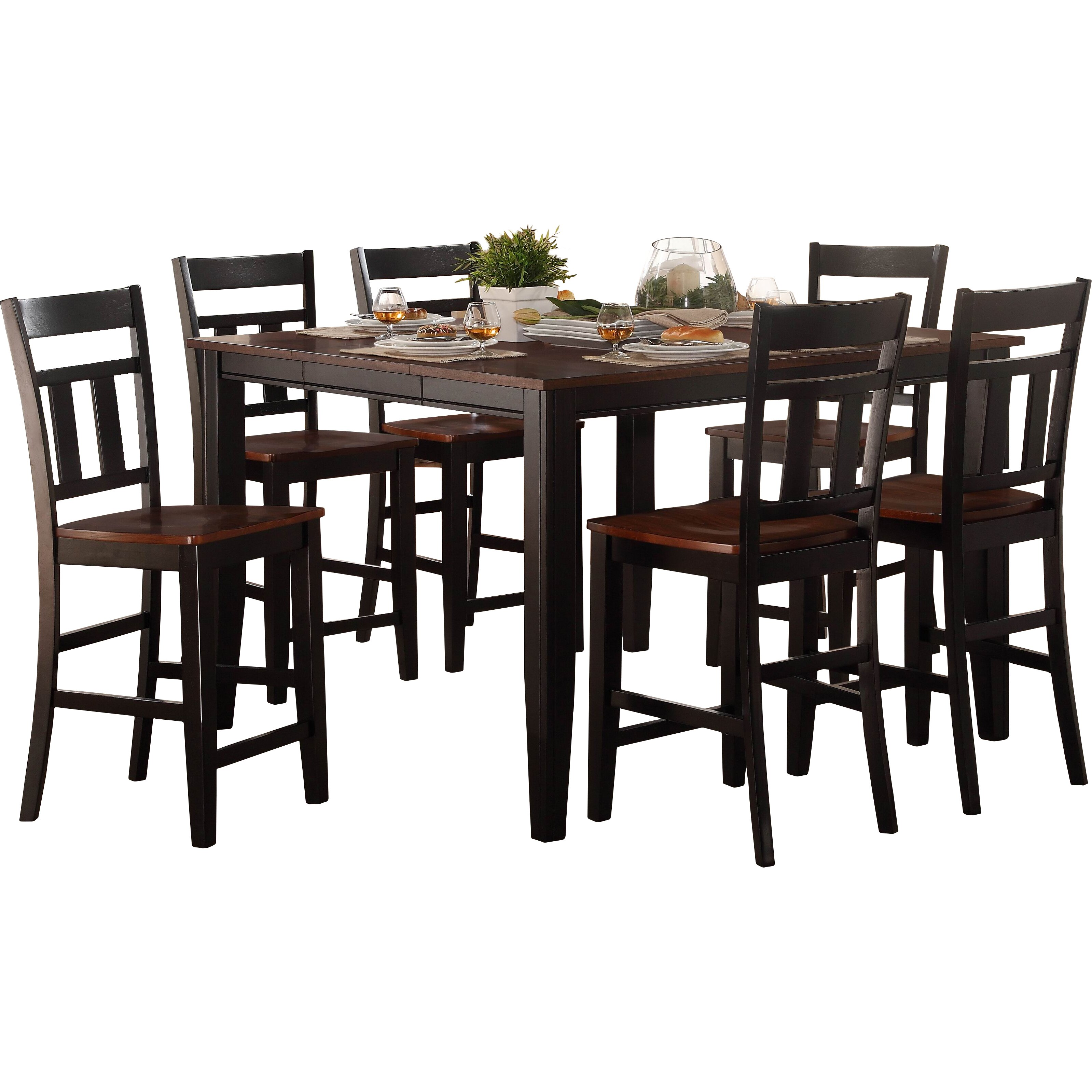 Andover mills thornton counter height extendable dining for Counter height extendable dining table