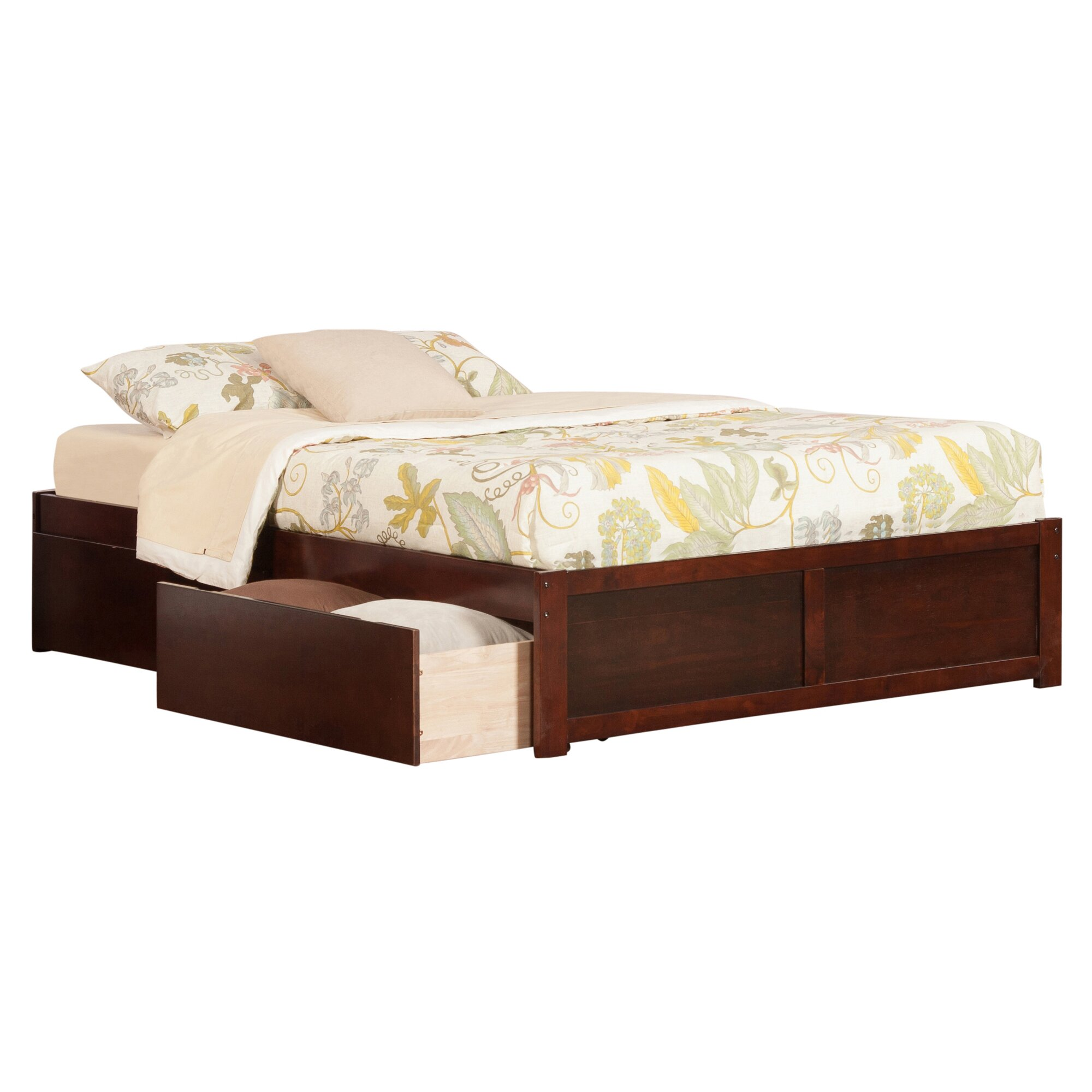 andover mills mackenzie king storage platform bed reviews wayfair. Black Bedroom Furniture Sets. Home Design Ideas