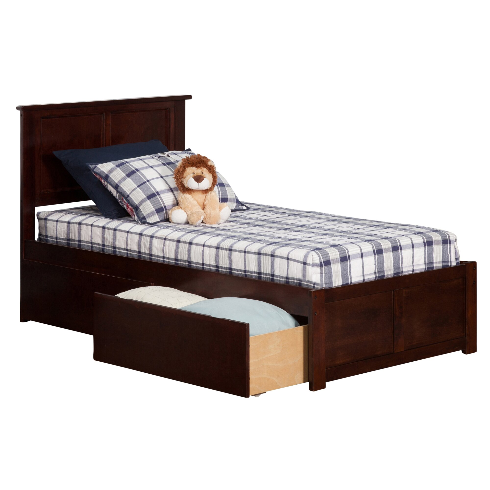 Andover Mills Marjorie Extra Long Twin Panel Bed With