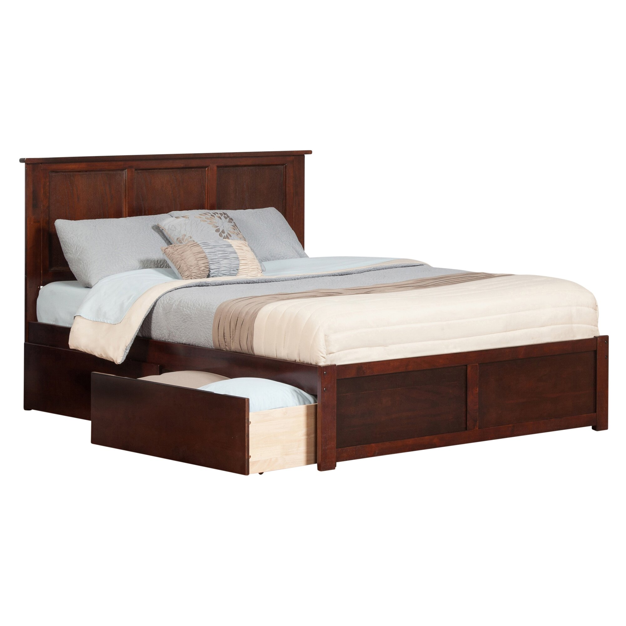 Andover mills marjorie king storage platform bed reviews for Pedestal bed