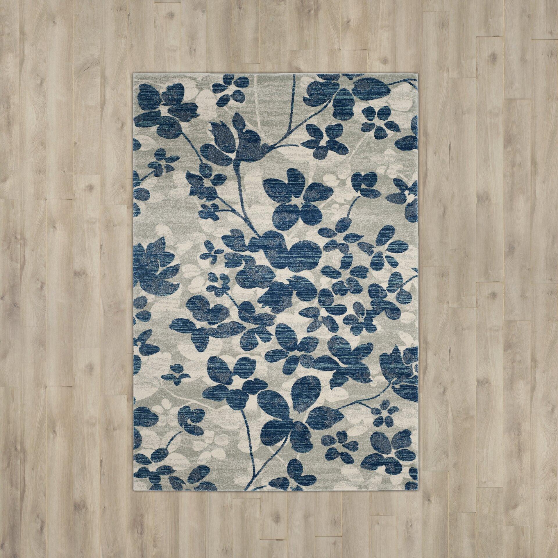 andover mills aegean grey light blue area rug reviews wayfair. Black Bedroom Furniture Sets. Home Design Ideas