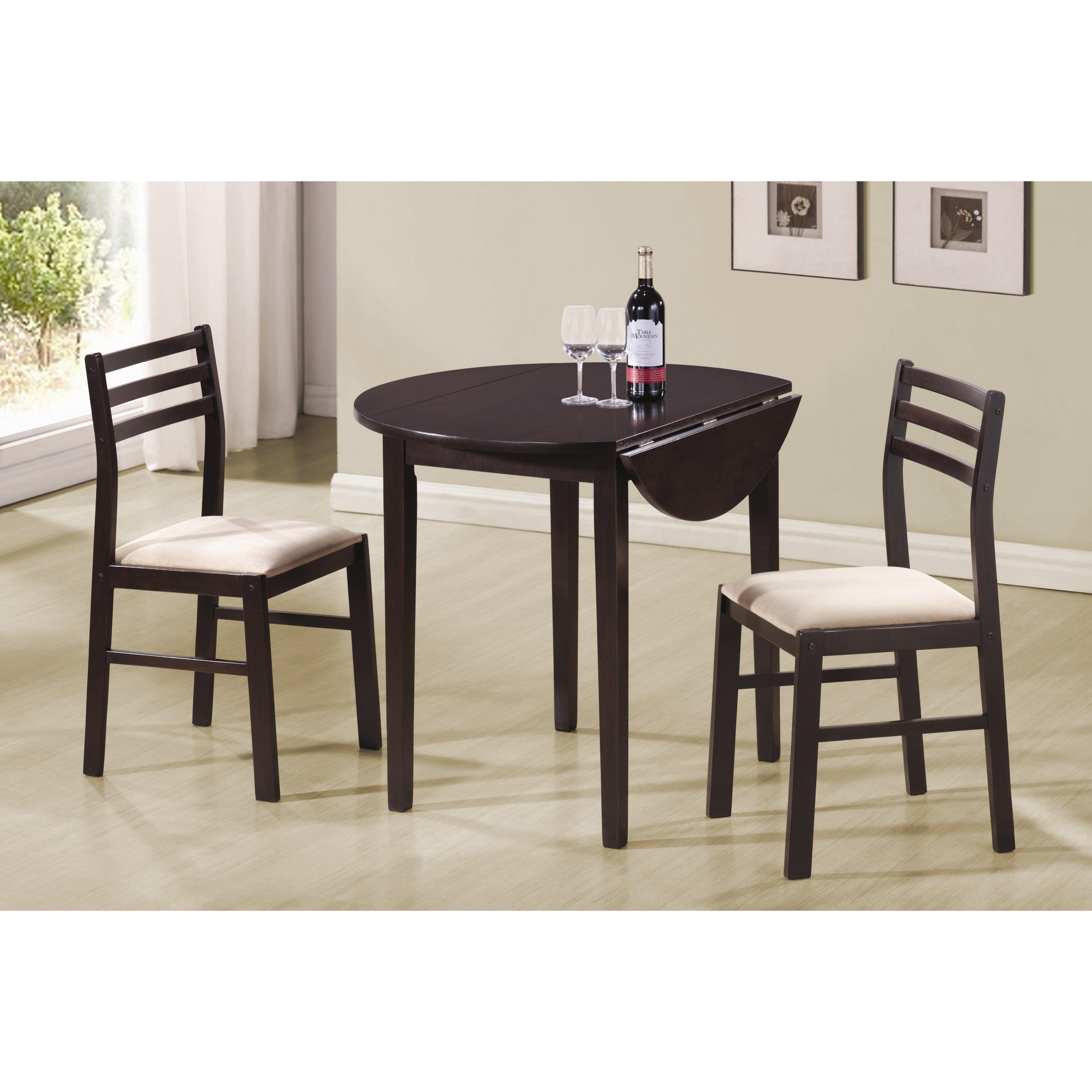 andover mills lynbrook 3 piece dining set reviews wayfair. Black Bedroom Furniture Sets. Home Design Ideas