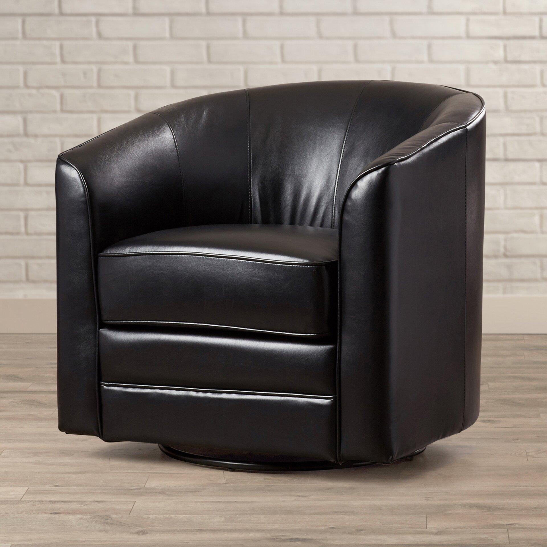 Andover Mills Wells Swivel Barrel Chair Amp Reviews Wayfair