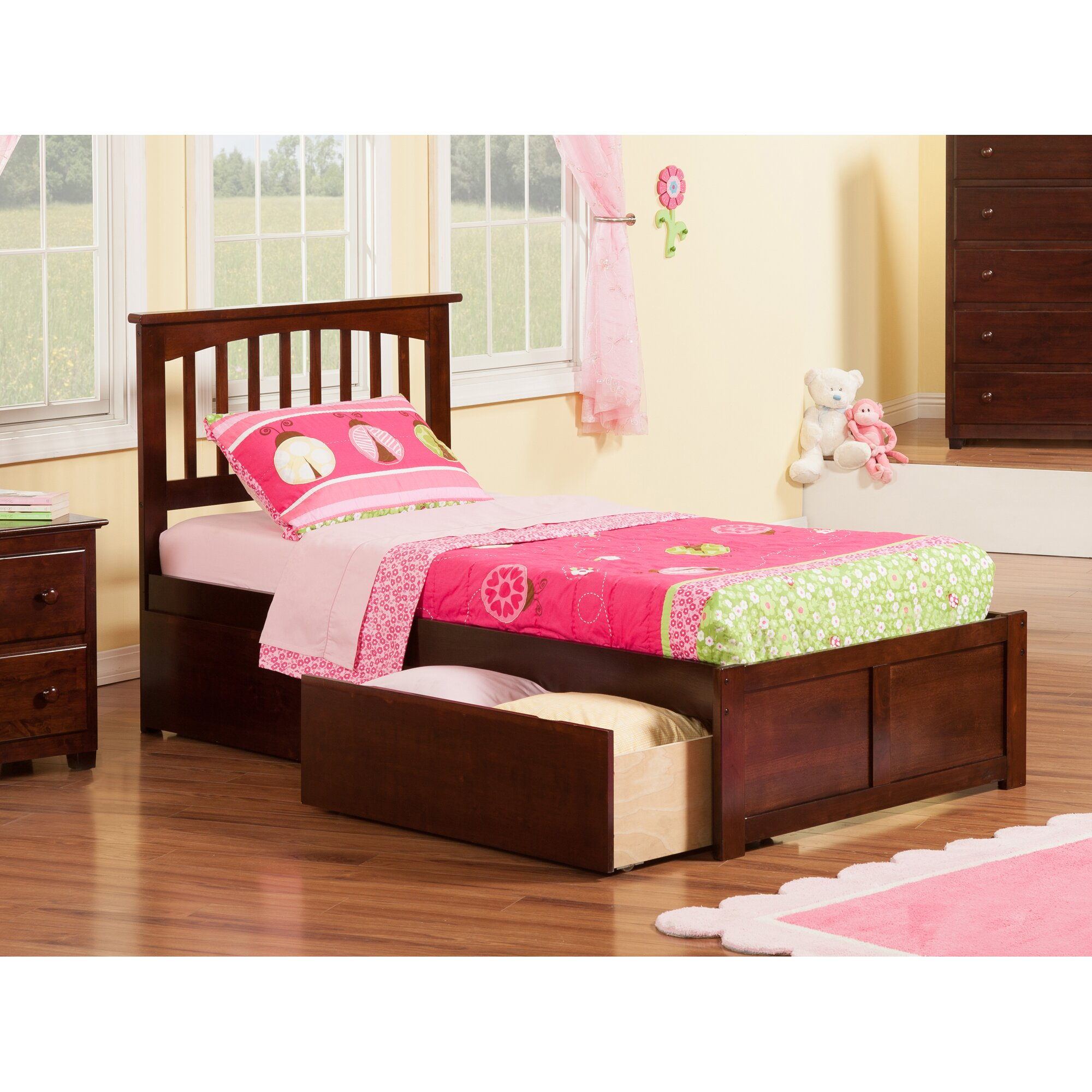 Andover Mills Conrad Extra Long Twin Slat Bed Reviews