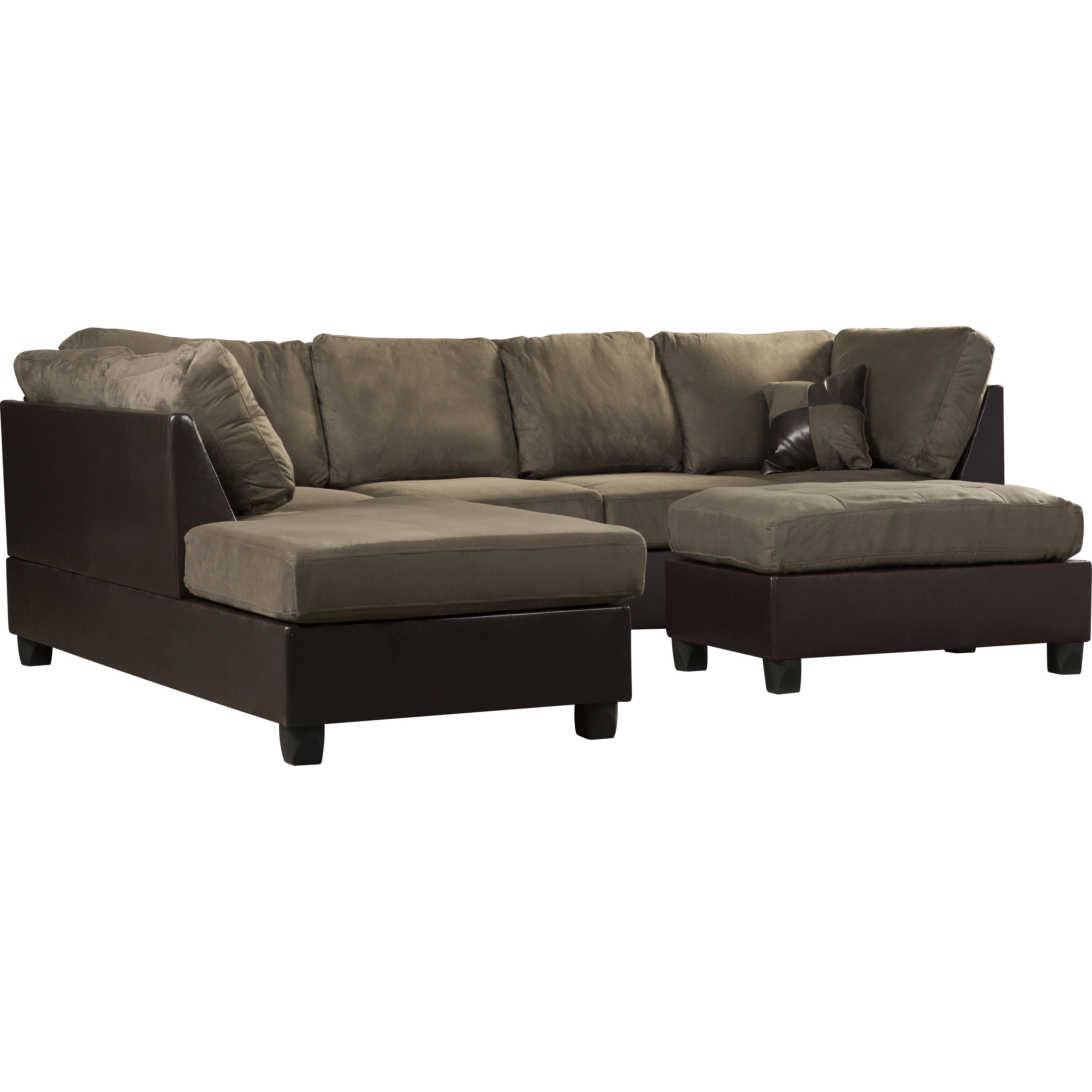 Andover mills corporate 112quot reversible chaise sectional for Sectional sofa reversible chaise living room furniture