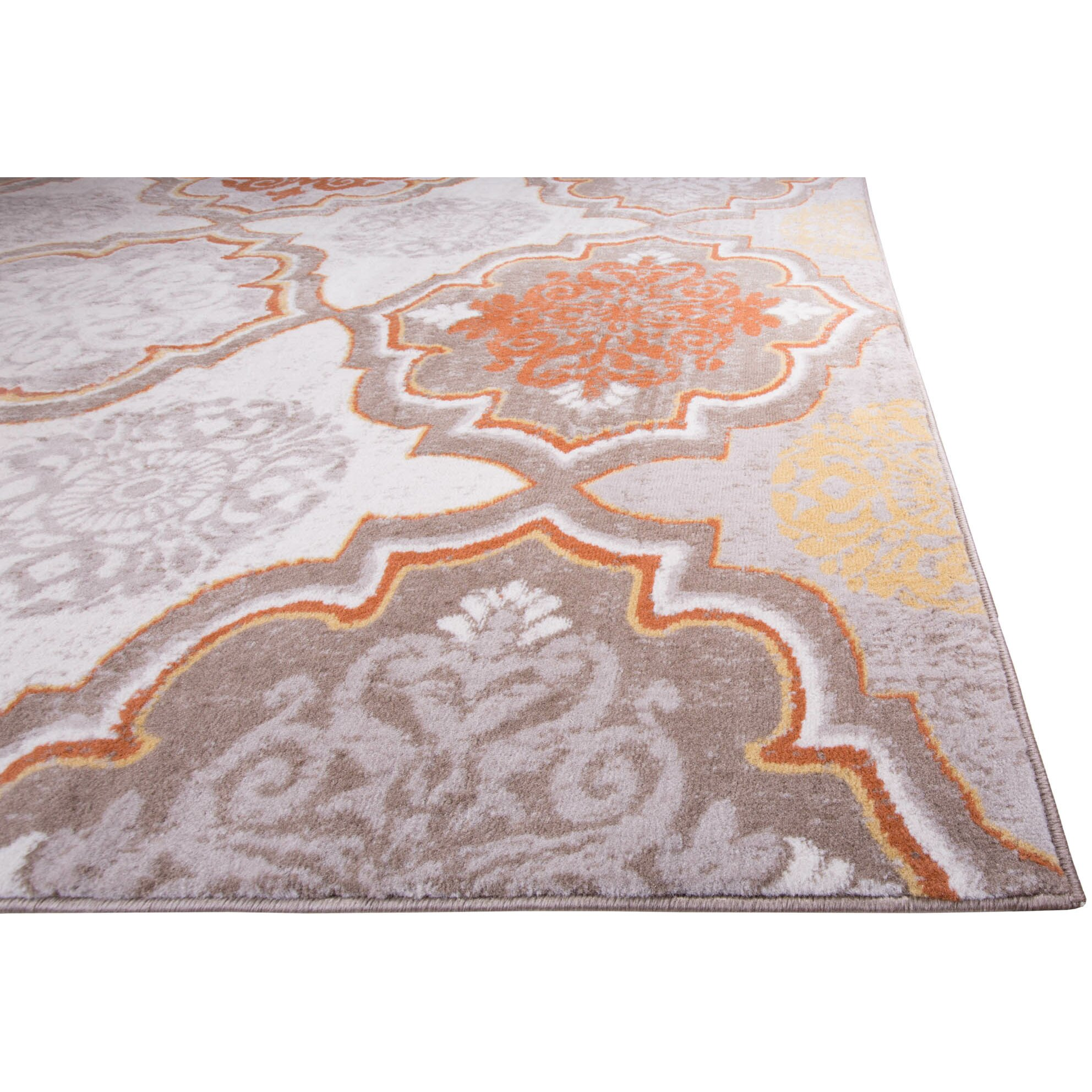 Andover Mills Zella Orange/Gray Area Rug & Reviews