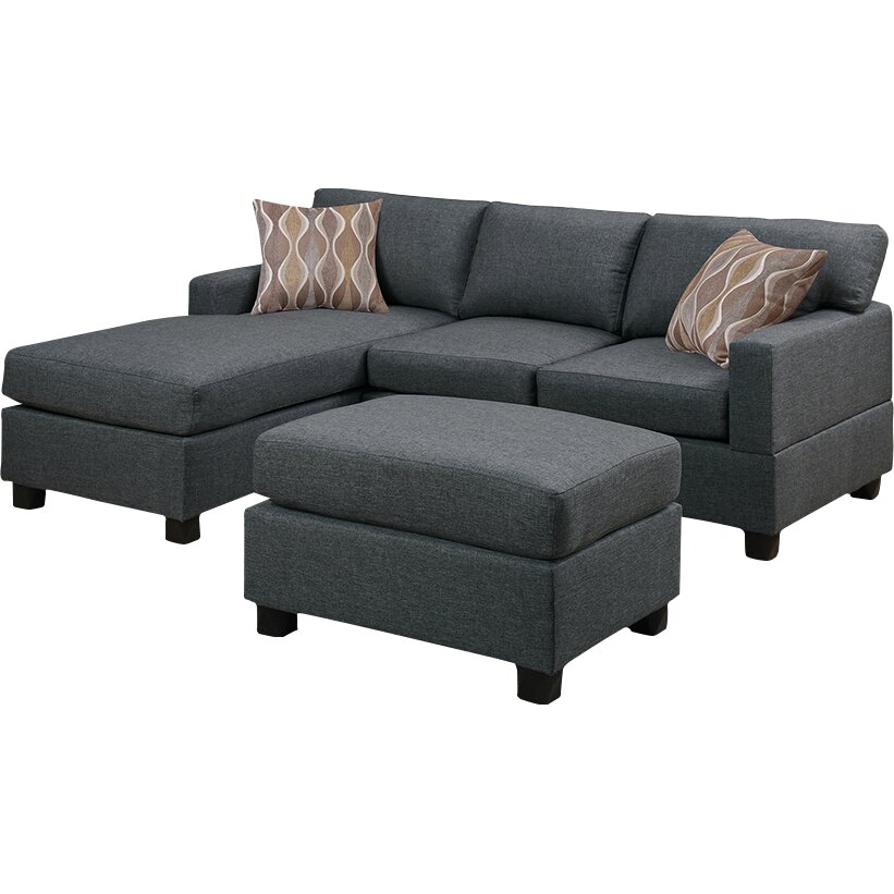 Andover mills birchview reversible chaise sectional sofa for Wayfair furniture sectional sofa