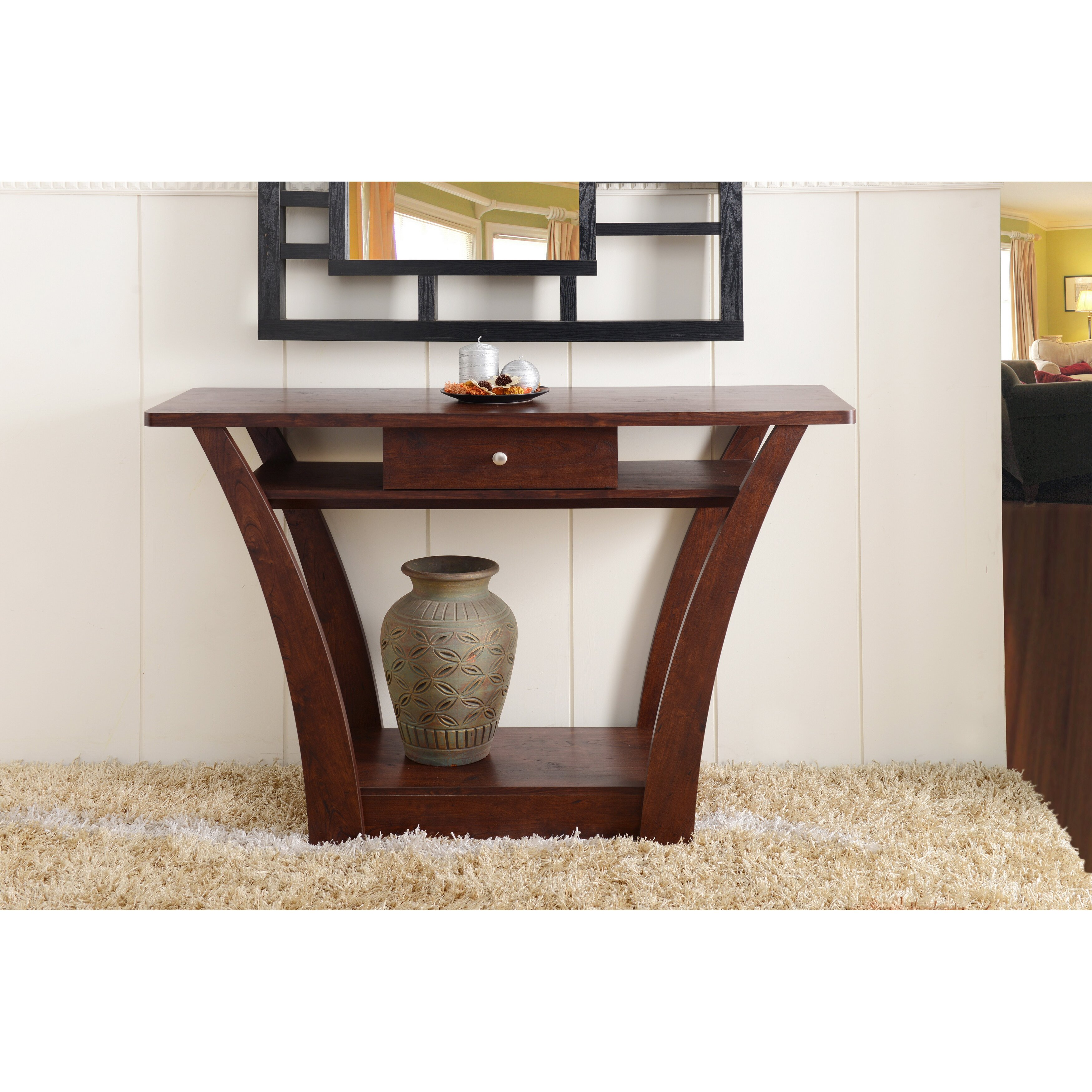Andover Mills Farrwood Console Table Reviews Wayfair