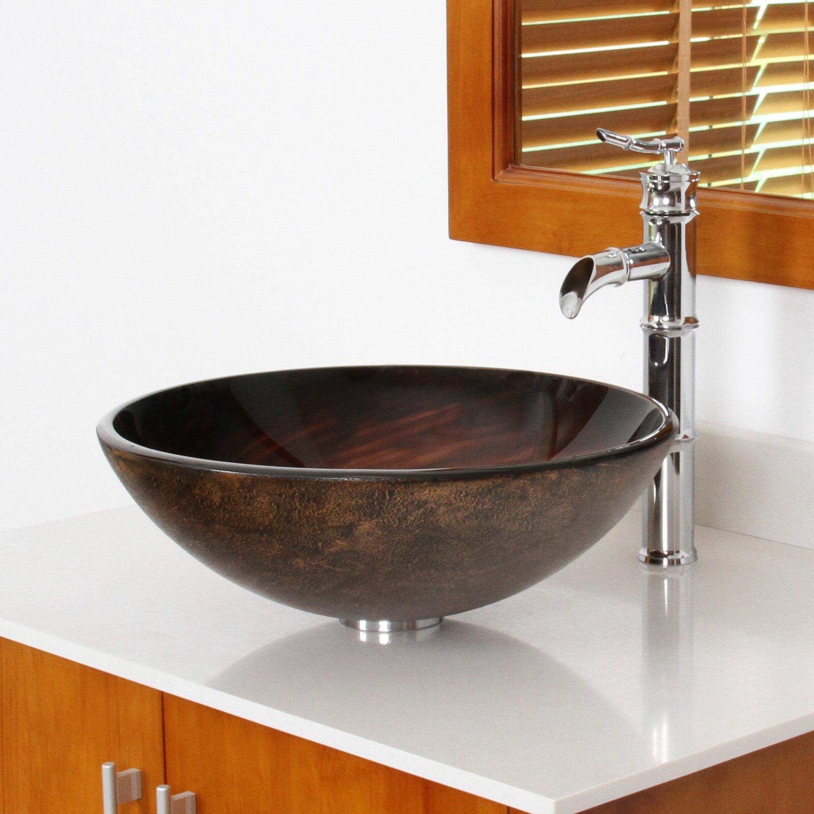 Elite Whirlpool Hand Painted Bowl Vessel Bathroom Sink Reviews Wayfair