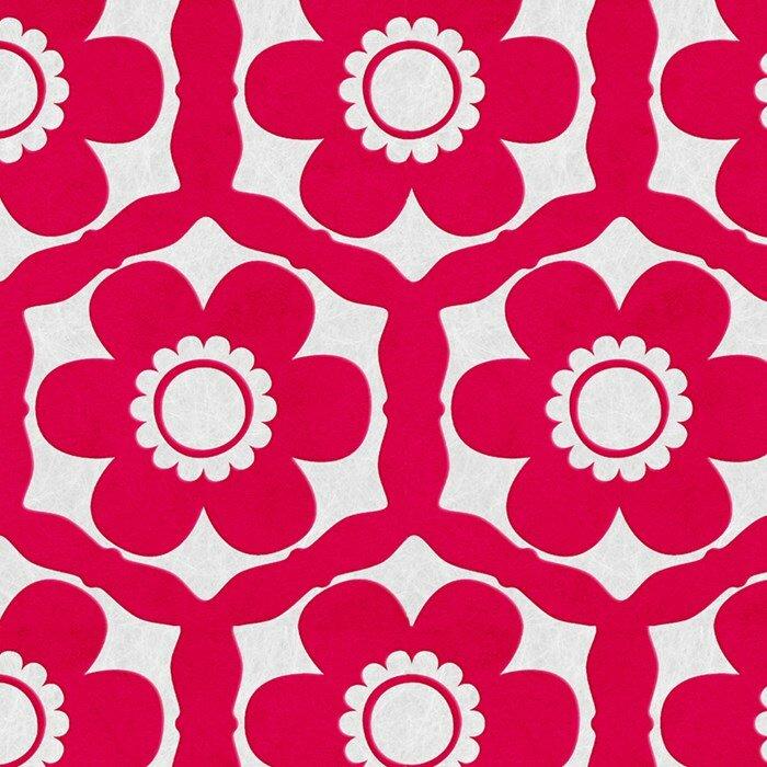 "Graham & Brown Funky 33' X 20"" Floral Flocked Wallpaper"