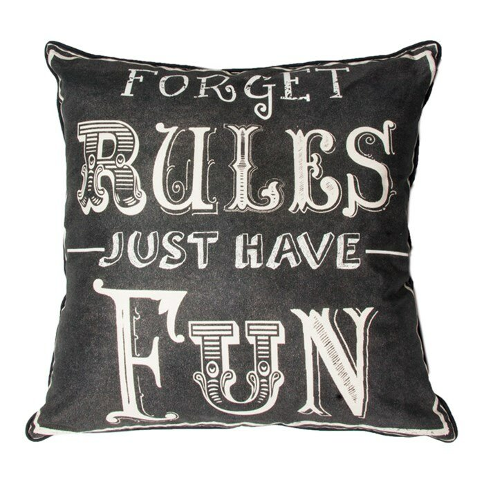 Graham & Brown Forget Rules Cotton Throw Pillow & Reviews ...
