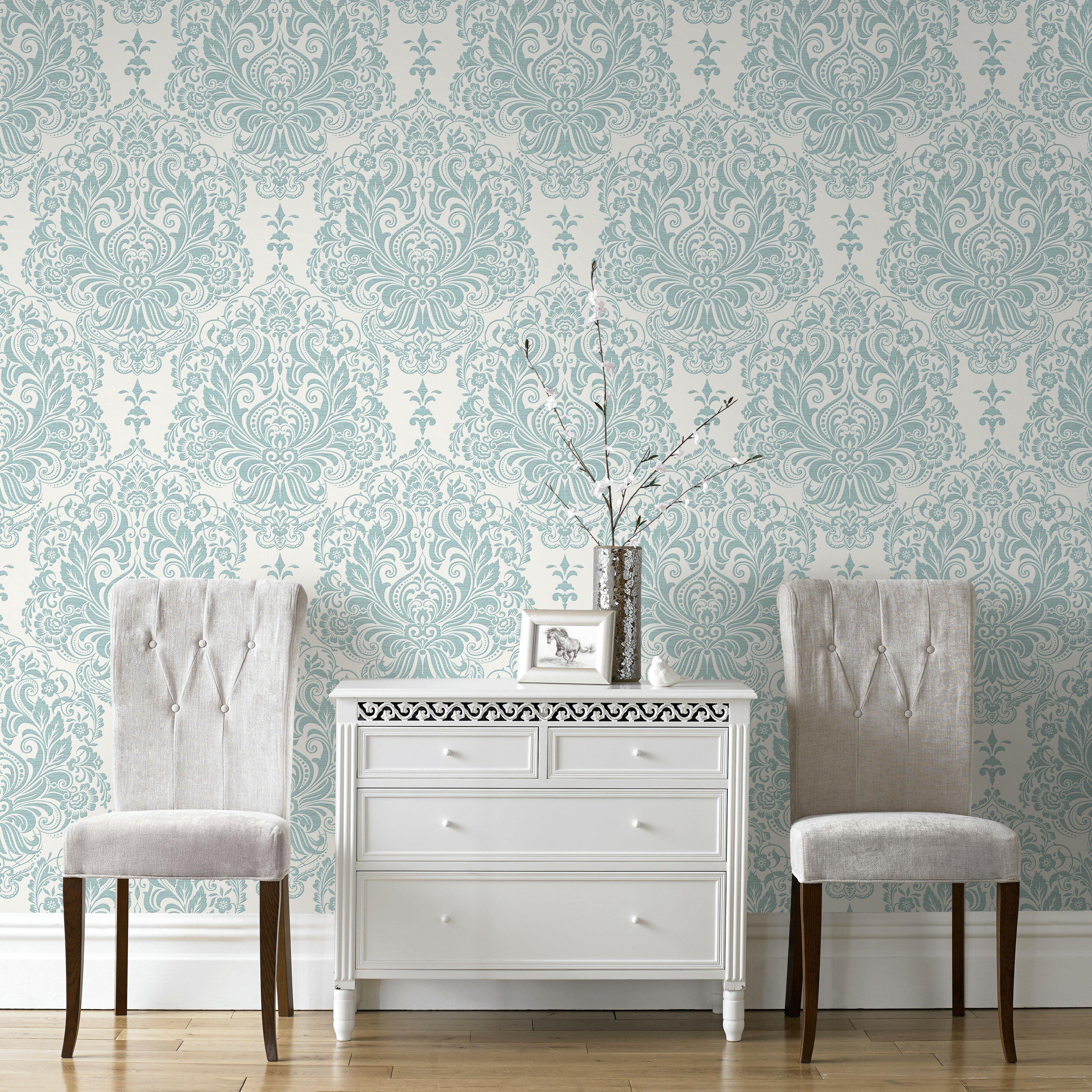 graham brown palais melody 33 39 x 20 damask wallpaper. Black Bedroom Furniture Sets. Home Design Ideas