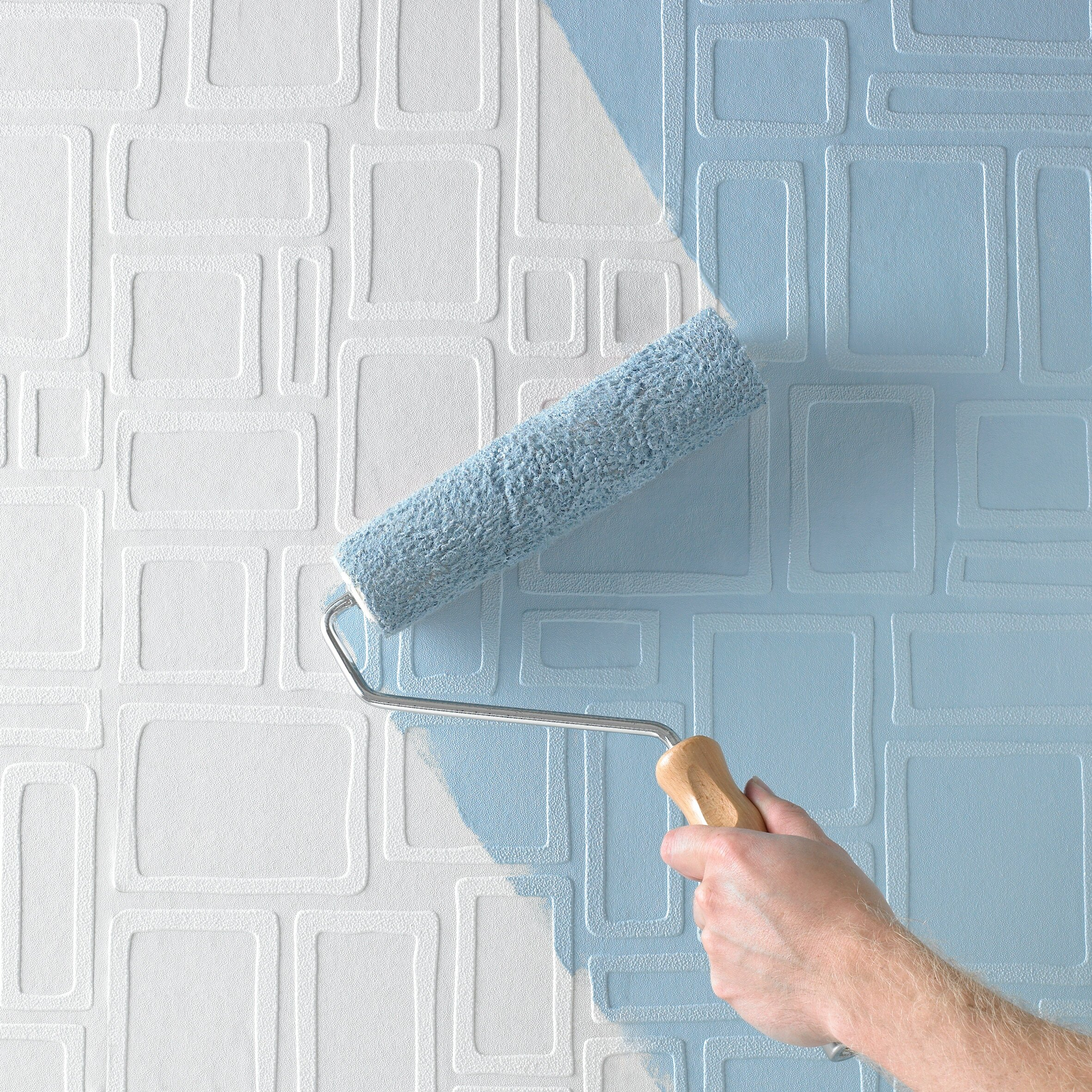 Graham brown paintable 33 39 x 20 5 geometric 3d embossed for Graham and brown bathroom wallpaper