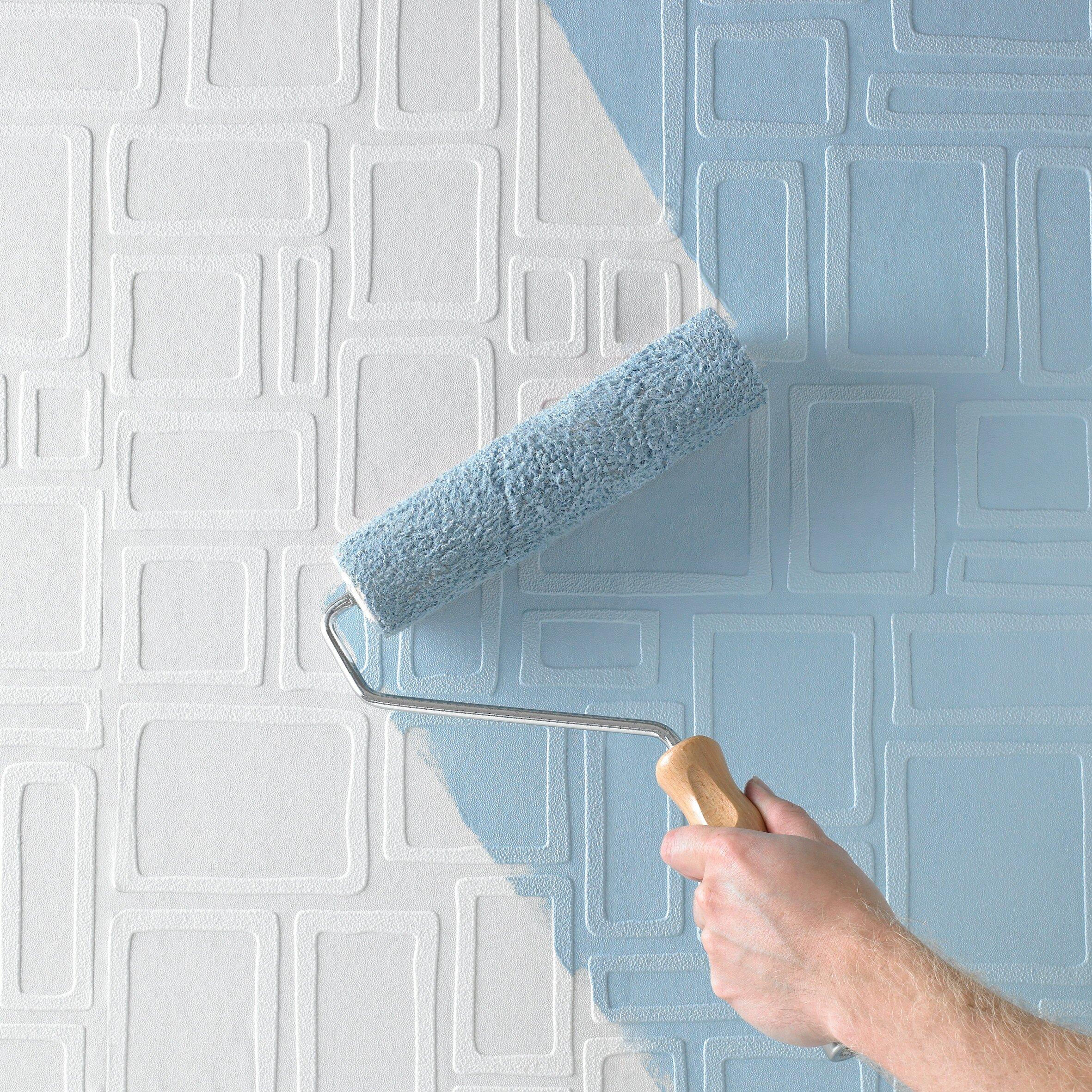 graham brown paintable 33 39 x 20 5 geometric 3d embossed wallpaper reviews wayfair. Black Bedroom Furniture Sets. Home Design Ideas