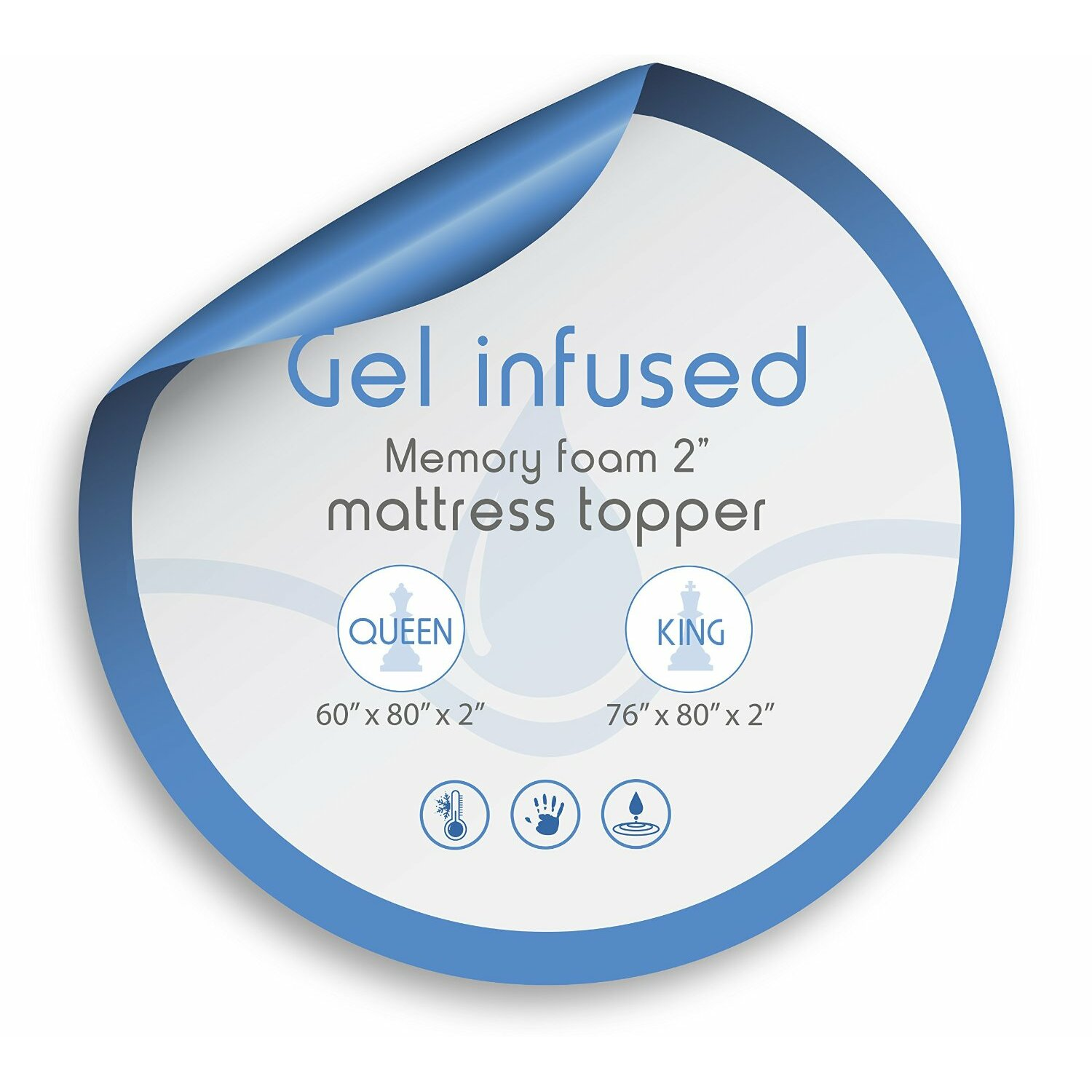 Viscosoft gel infused memory foam mattress topper reviews wayfair Mattress sale memory foam