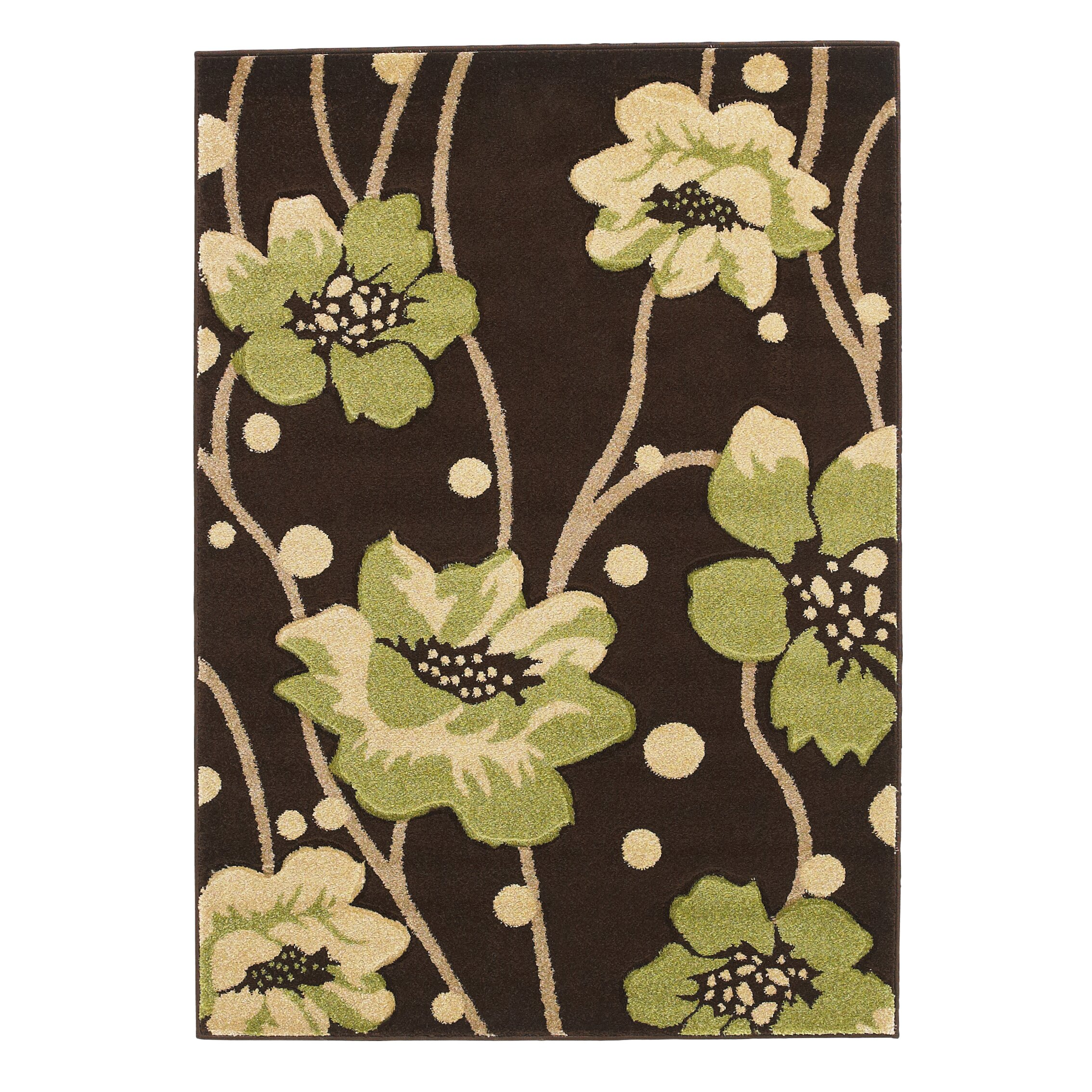 Green And Brown Area Rugs Linon Home Decor Trio