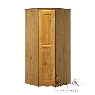 Dcor design mai corner 1 door wardrobe wayfair uk for 1 door corner wardrobe