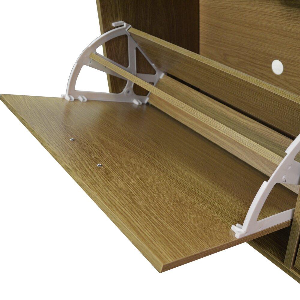 Dcor Design Extra Large 24 Pair Shoe Storage Cabinet