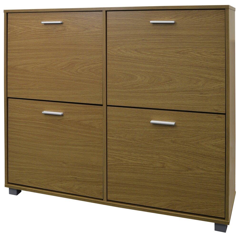 dcor design extra large 24 pair shoe storage cabinet. Black Bedroom Furniture Sets. Home Design Ideas