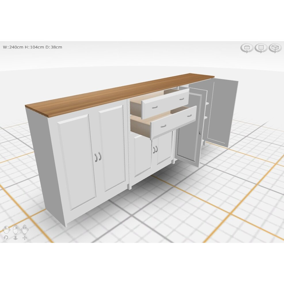 dcor design regal 6 door 2 drawer sideboard wayfair uk. Black Bedroom Furniture Sets. Home Design Ideas