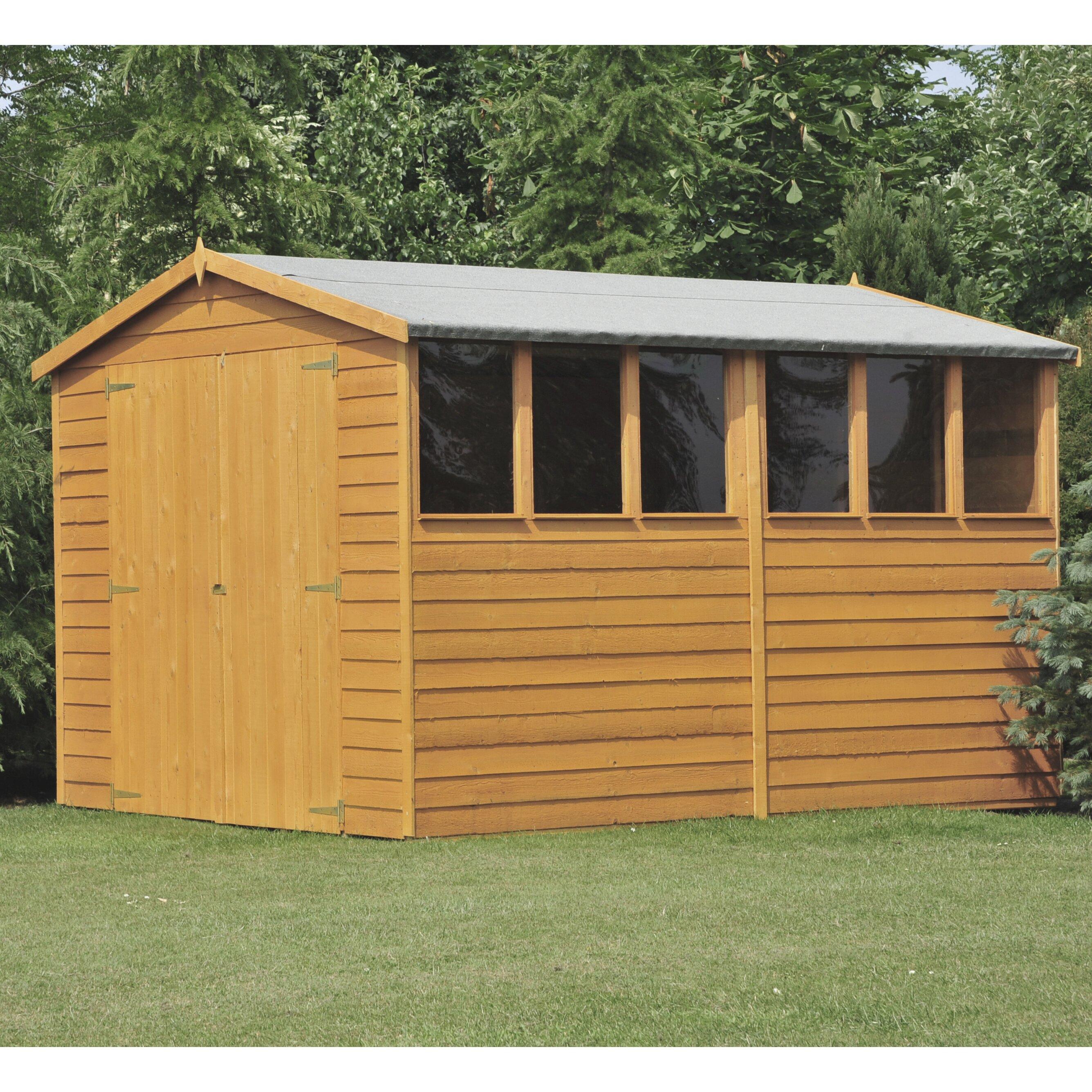 DCor Design 12 X 6 Wooden Storage Shed