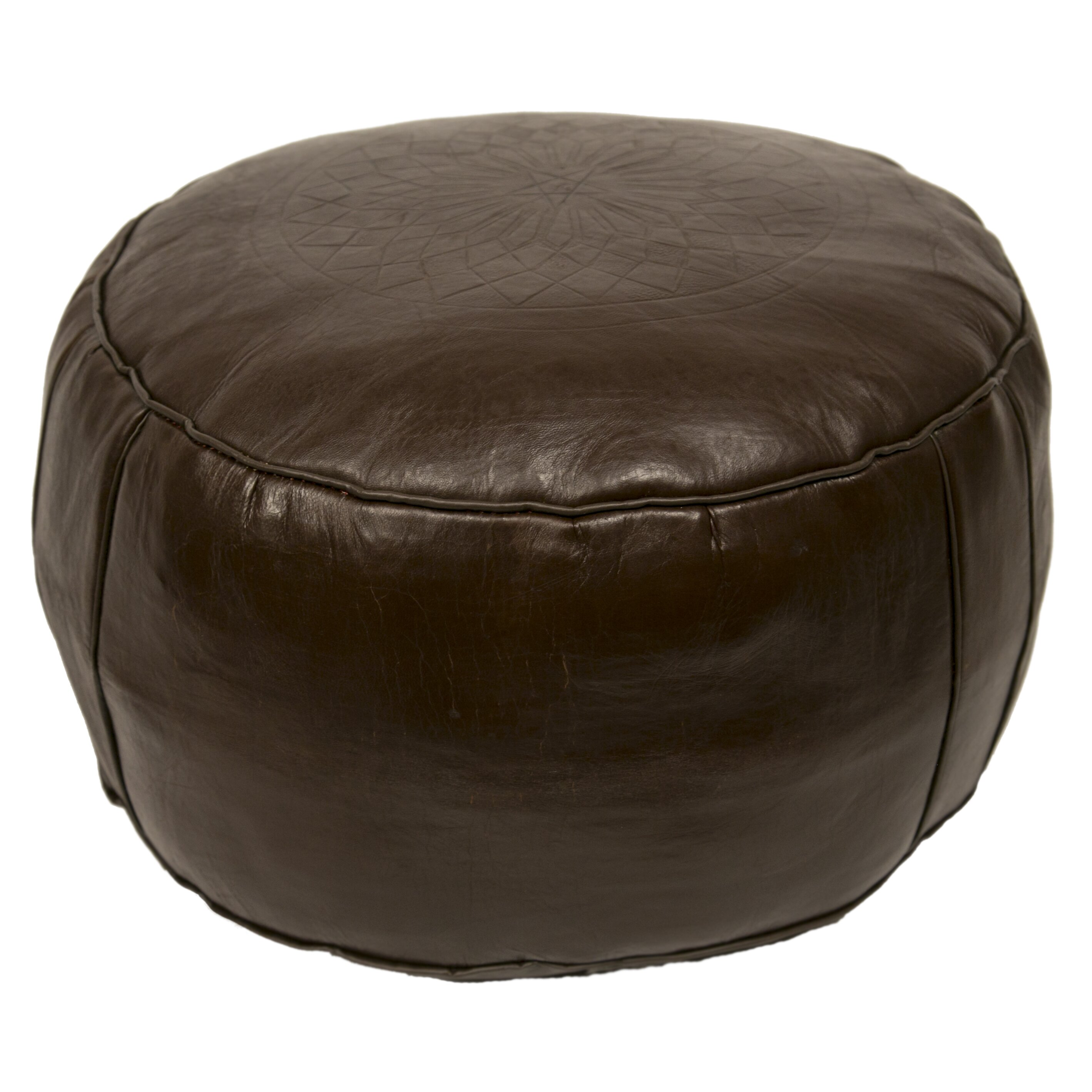 casablanca market moroccan leather pouf ottoman iii reviews wayfair. Black Bedroom Furniture Sets. Home Design Ideas