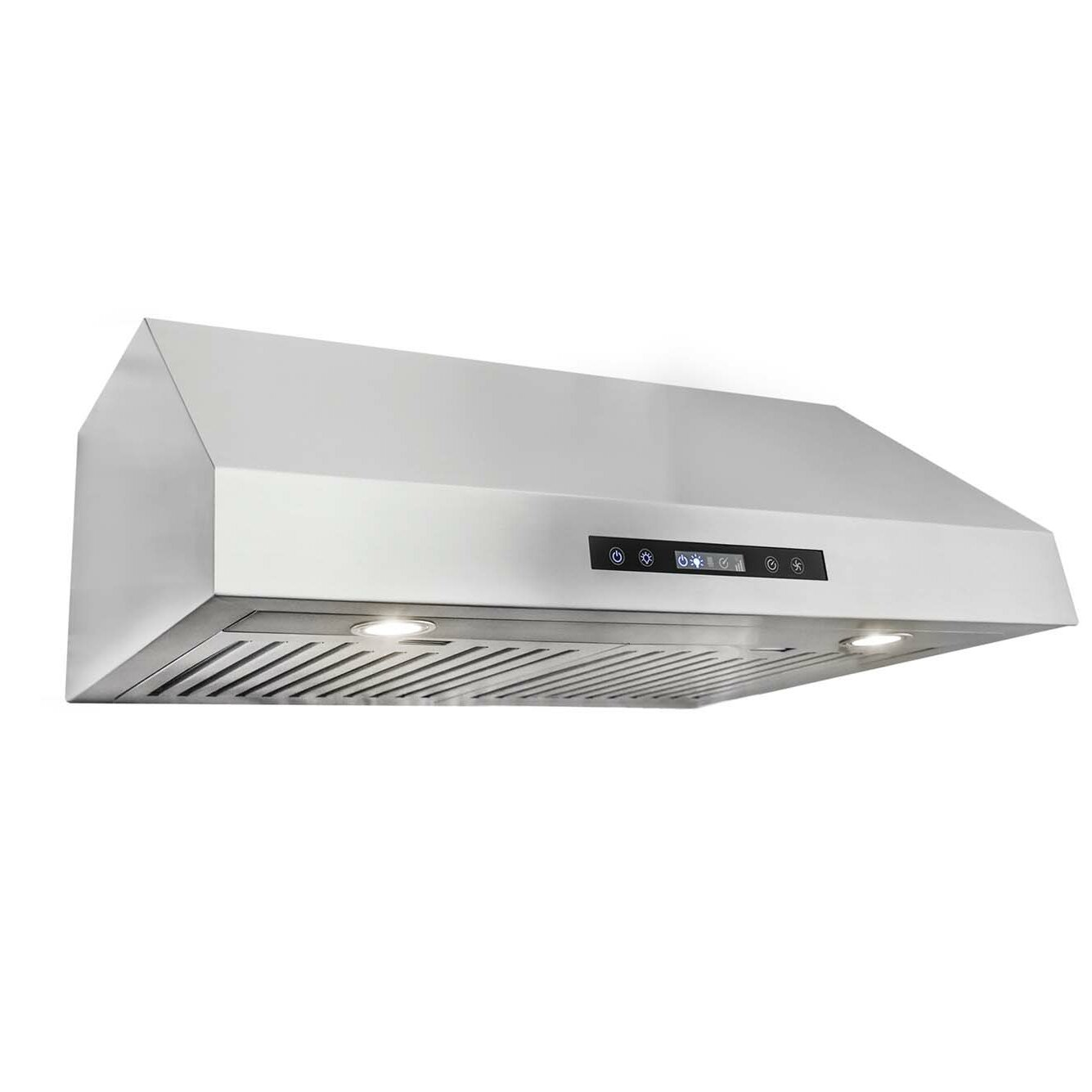 cosmo 30 750 cfm ducted under cabinet range hood in. Black Bedroom Furniture Sets. Home Design Ideas